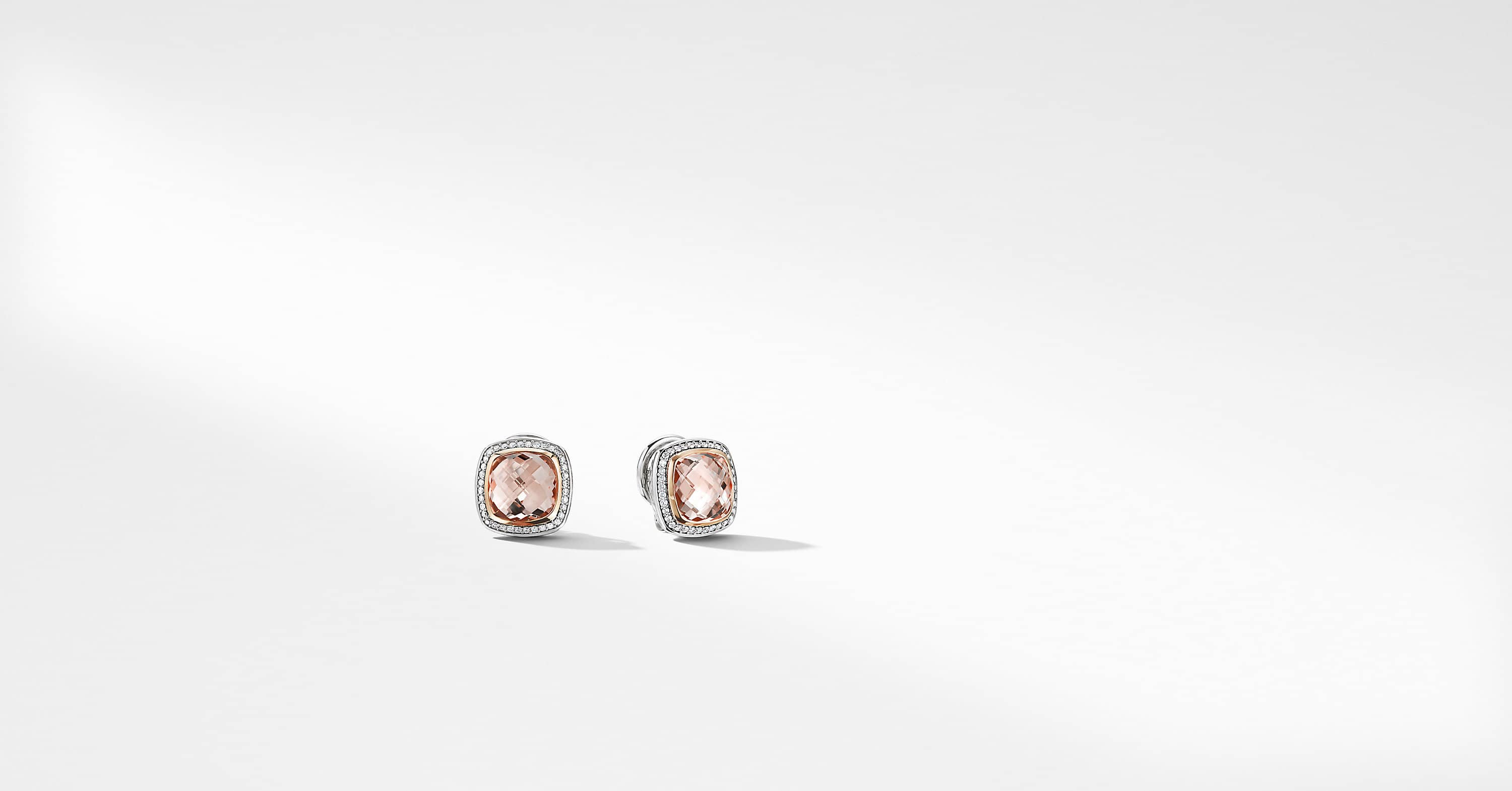 Albion Earrings with 18K Rose Gold, 11mm