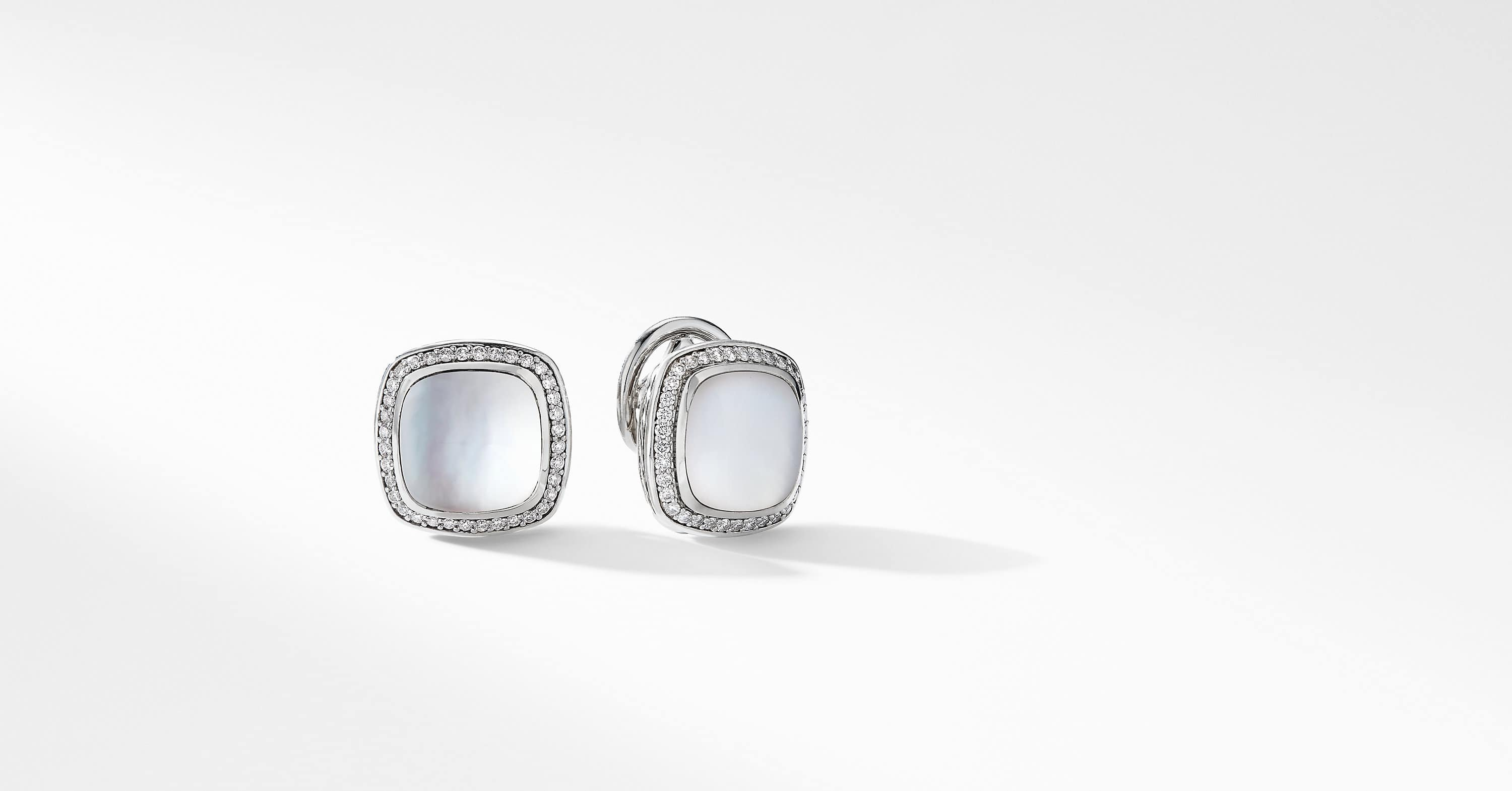 Albion Earrings with Diamonds, 11mm