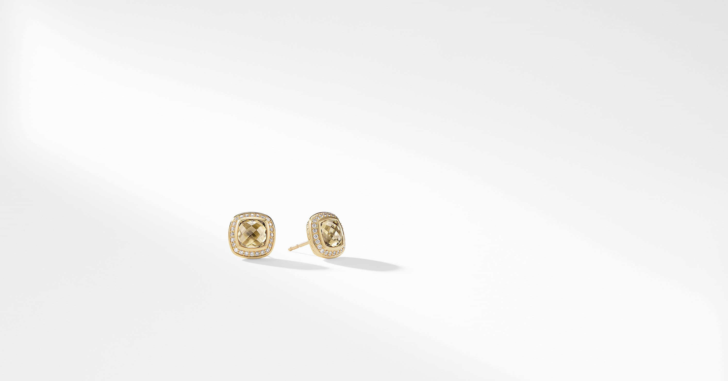 Albion Earrings with Diamonds in 18K Gold, 7mm