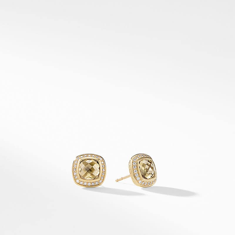 Albion® Earrings with Champagne Citrine and Diamonds in