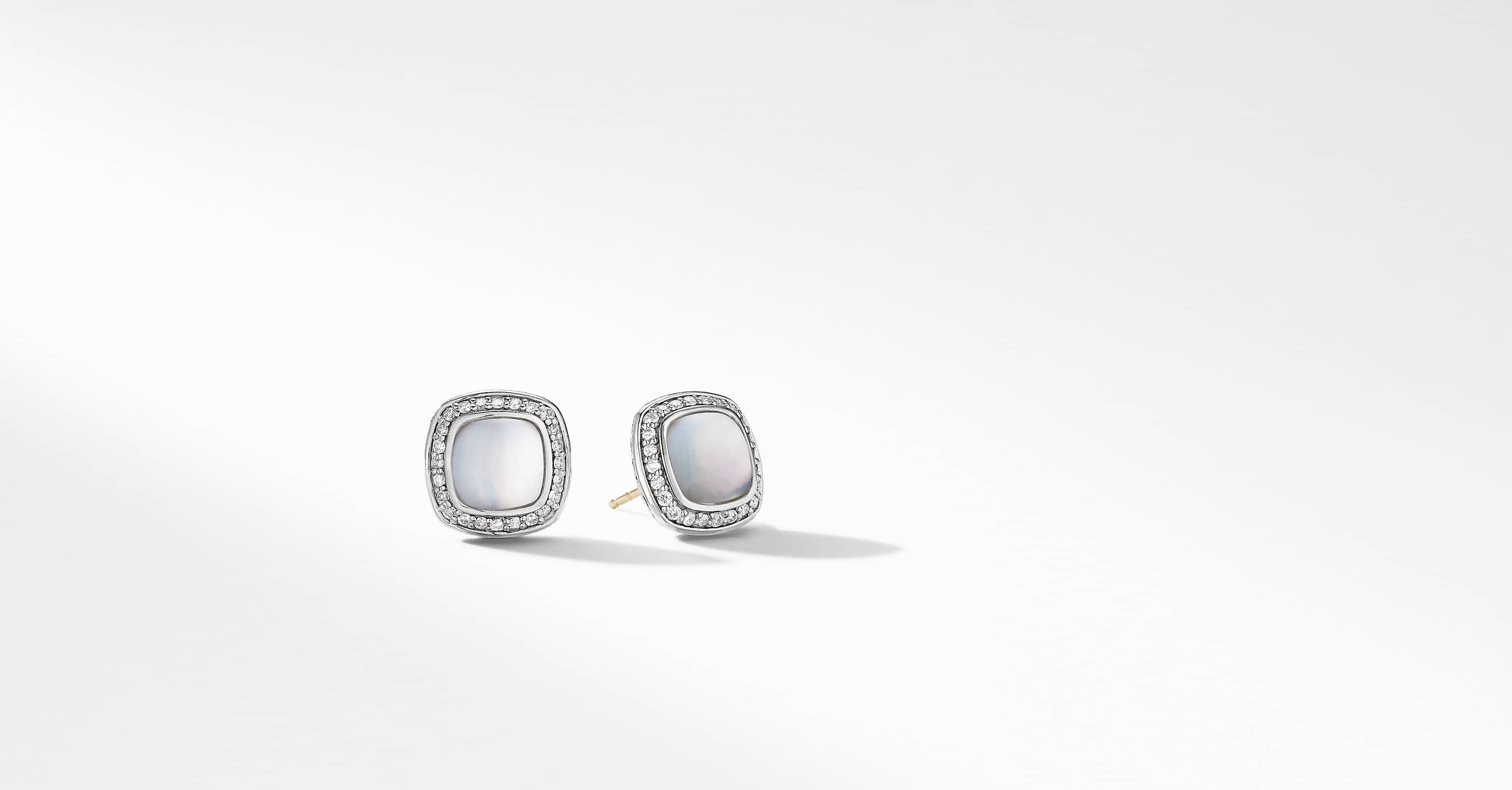 Albion Earrings with Diamonds, 7mm