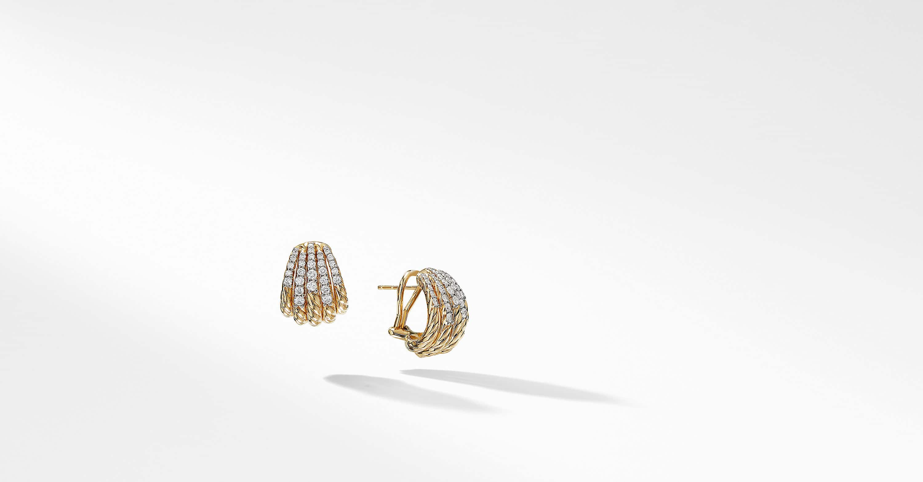 Tempo Earrings with Diamonds in 18K Gold