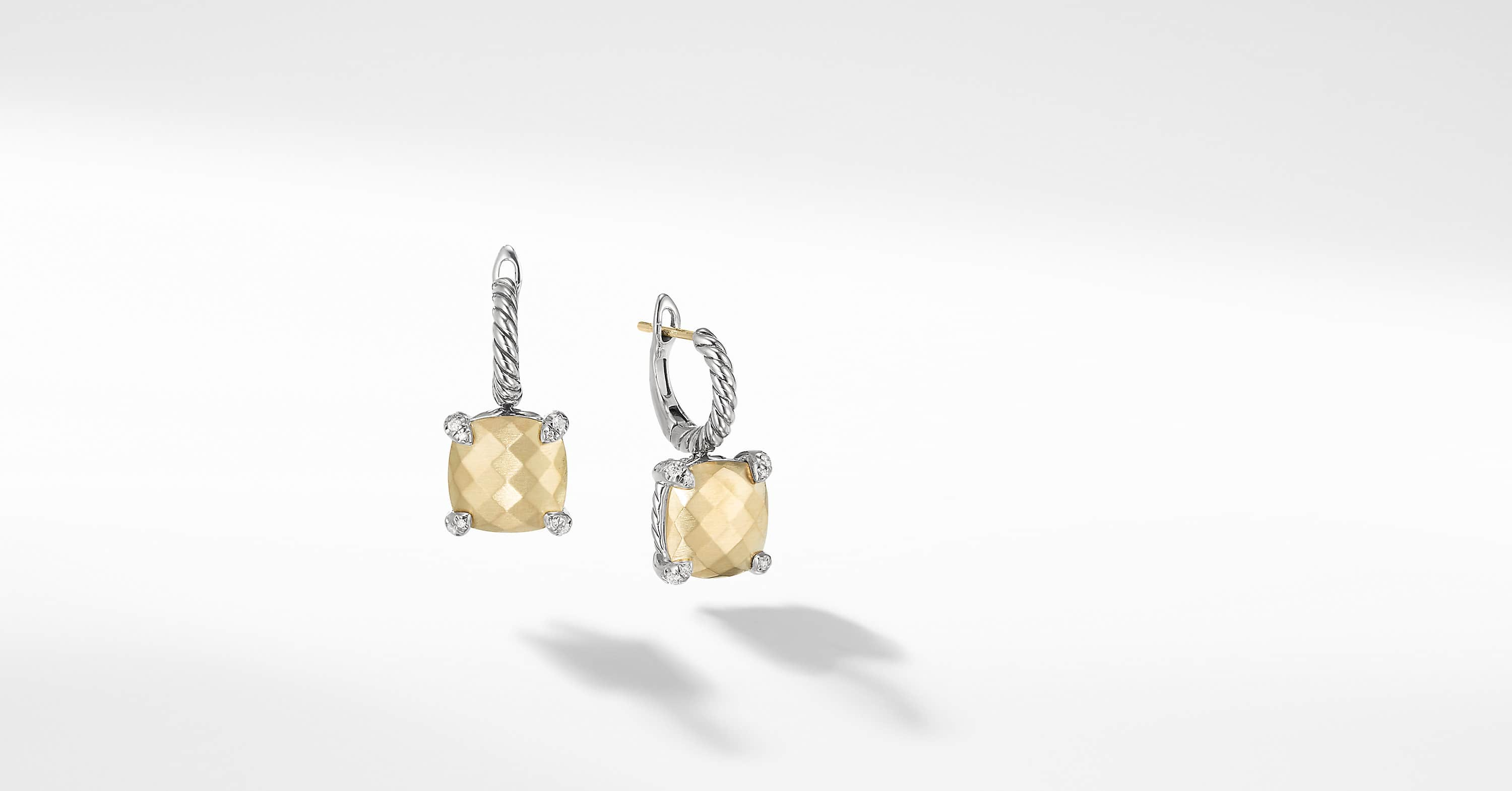 Chatelaine Drop Earrings with 18K Gold and Diamonds