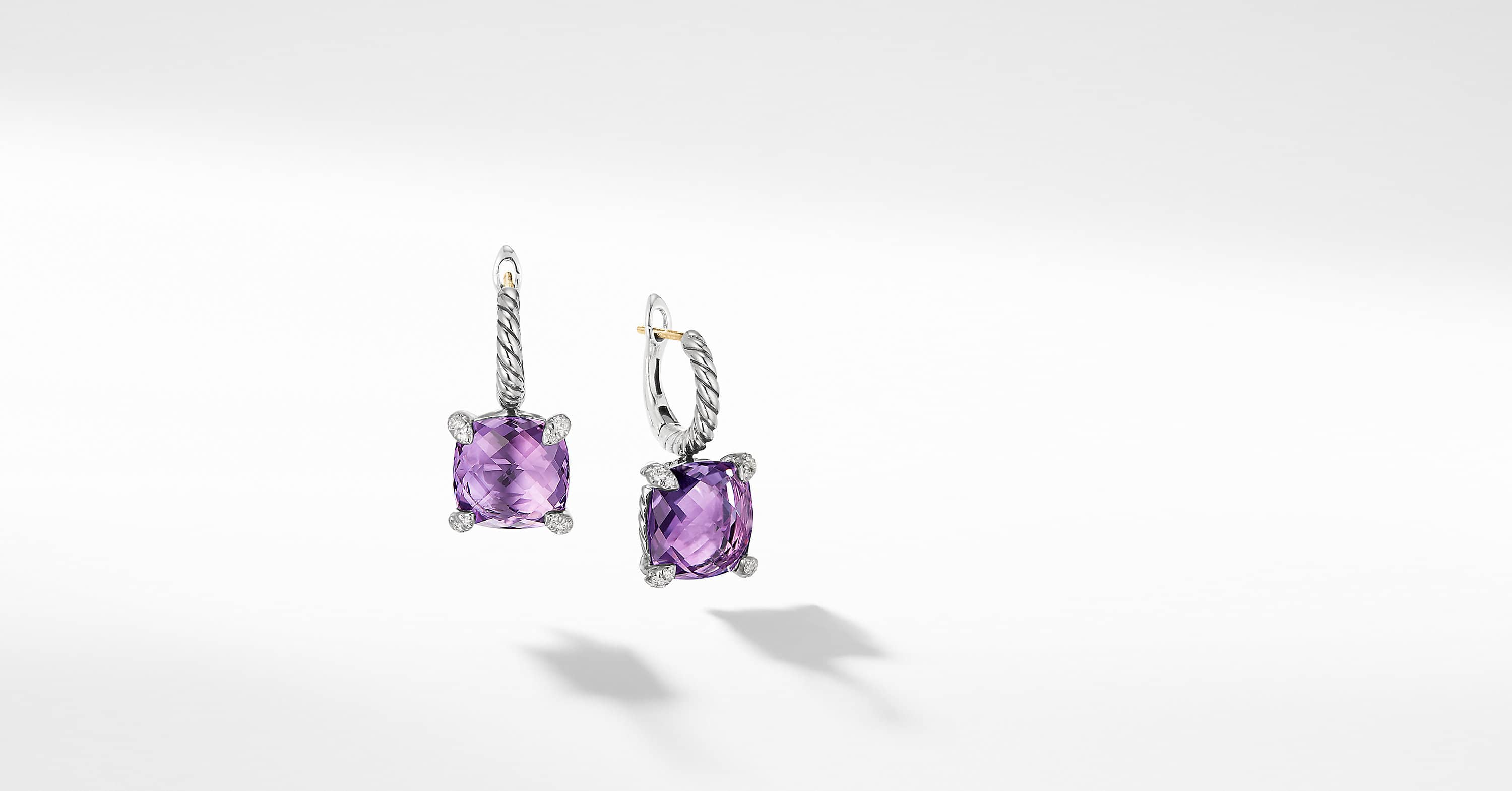 Chatelaine Drop Earrings with Diamonds