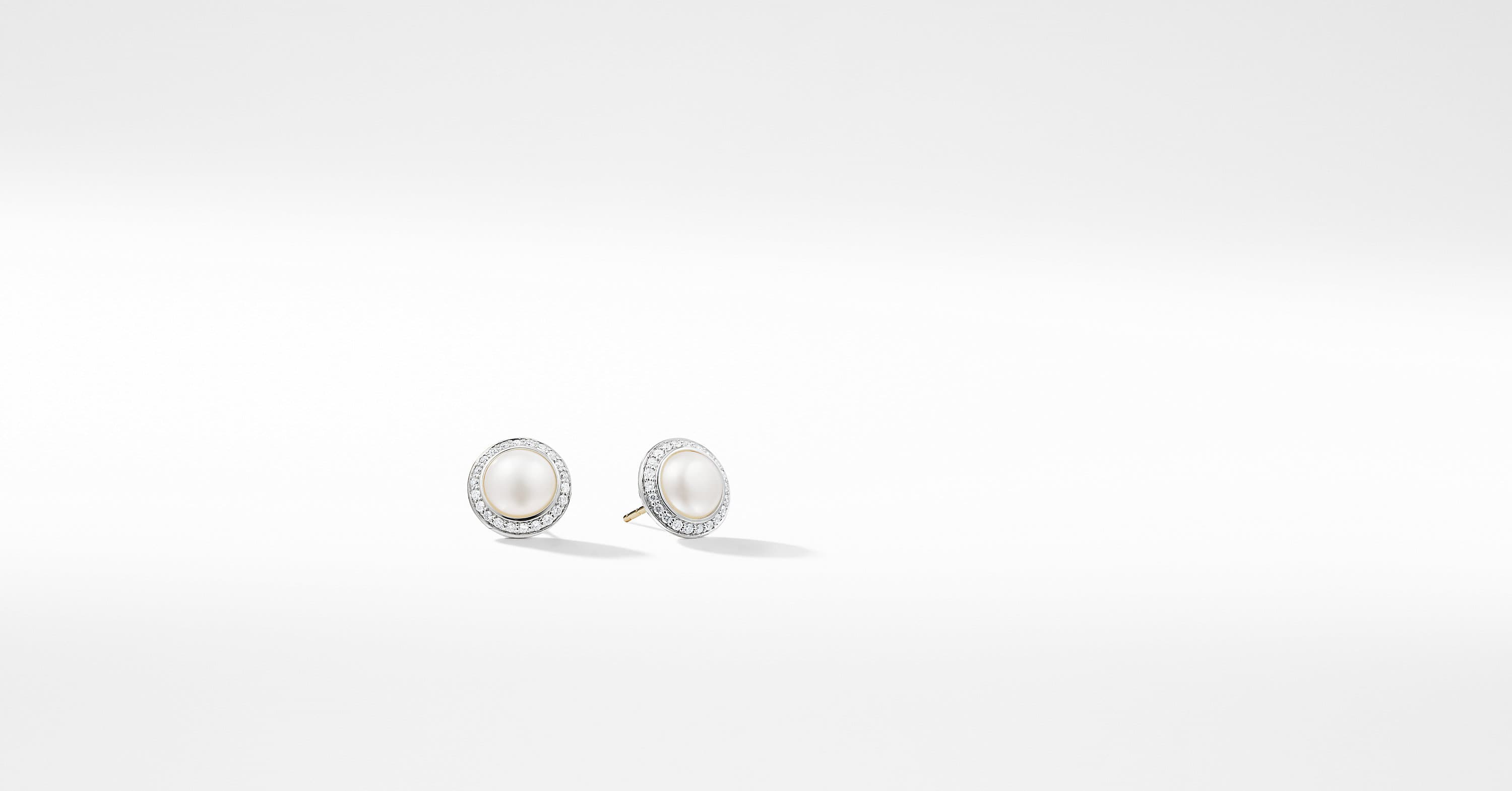 Cerise Pearl Earring with Diamonds