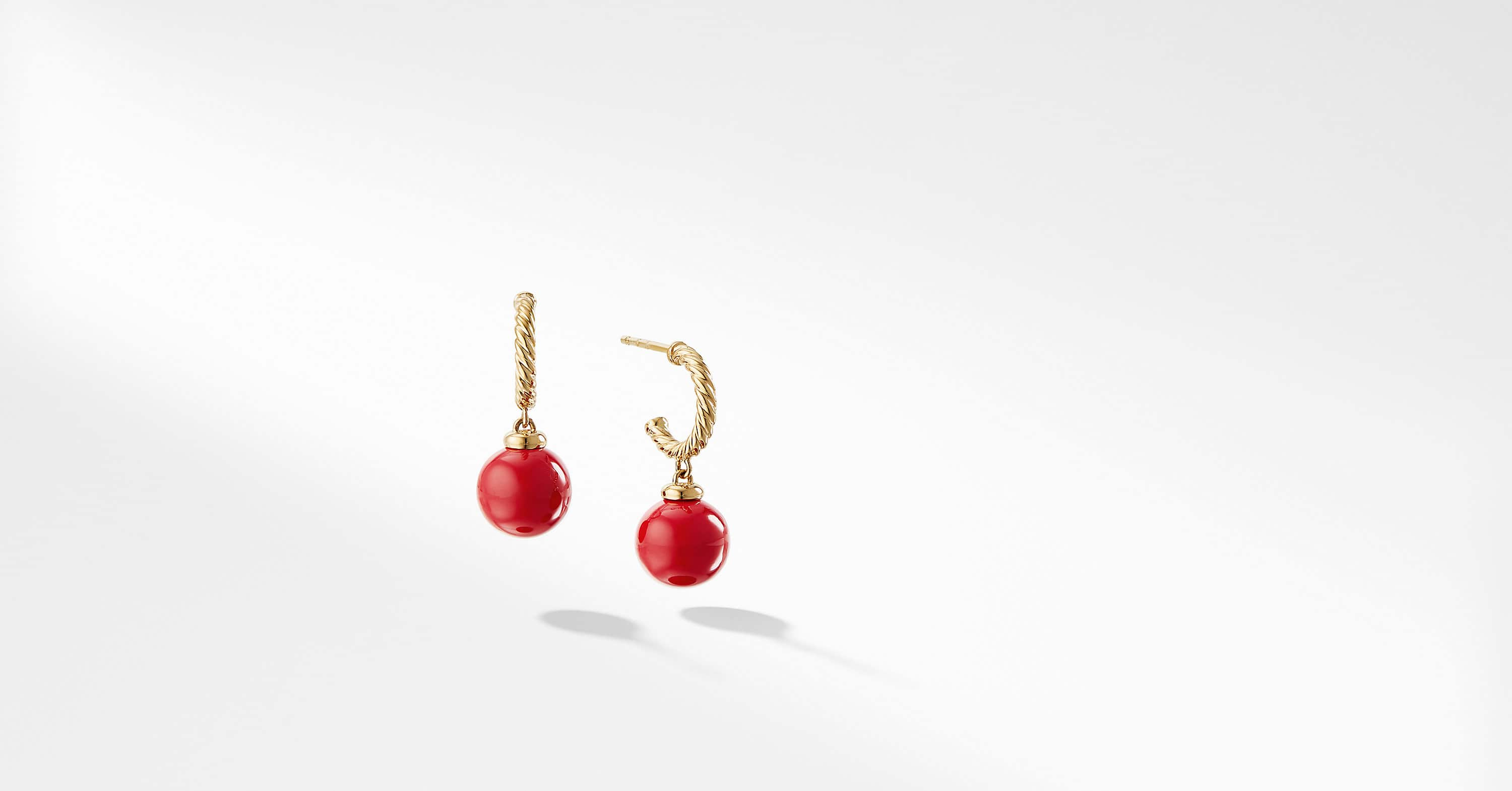 Solari Hoop Earrings with 18K Gold