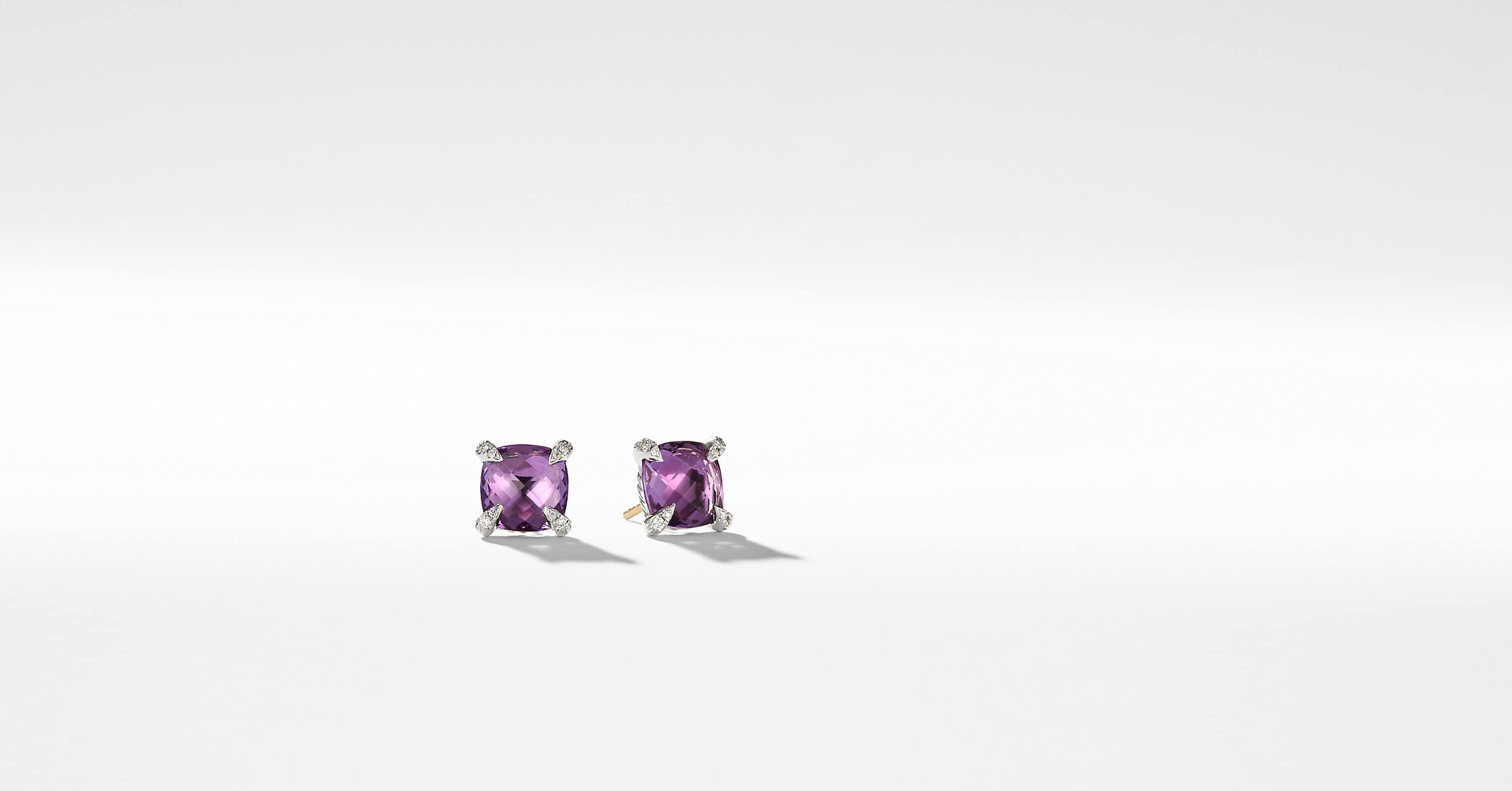Chatelaine Earrings with Diamonds, 9mm