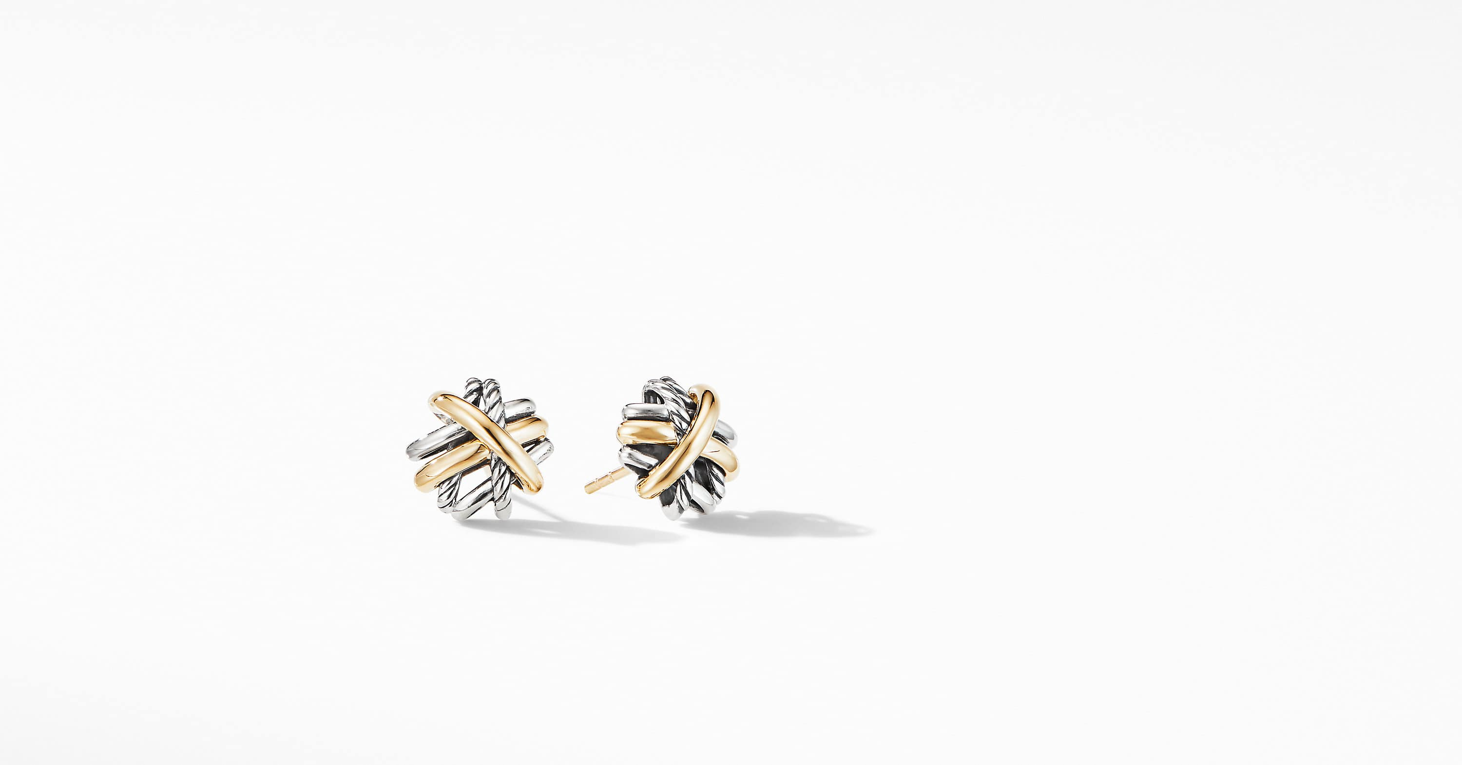 The Crossover Collection Stud Earrings with 18K Yellow Gold
