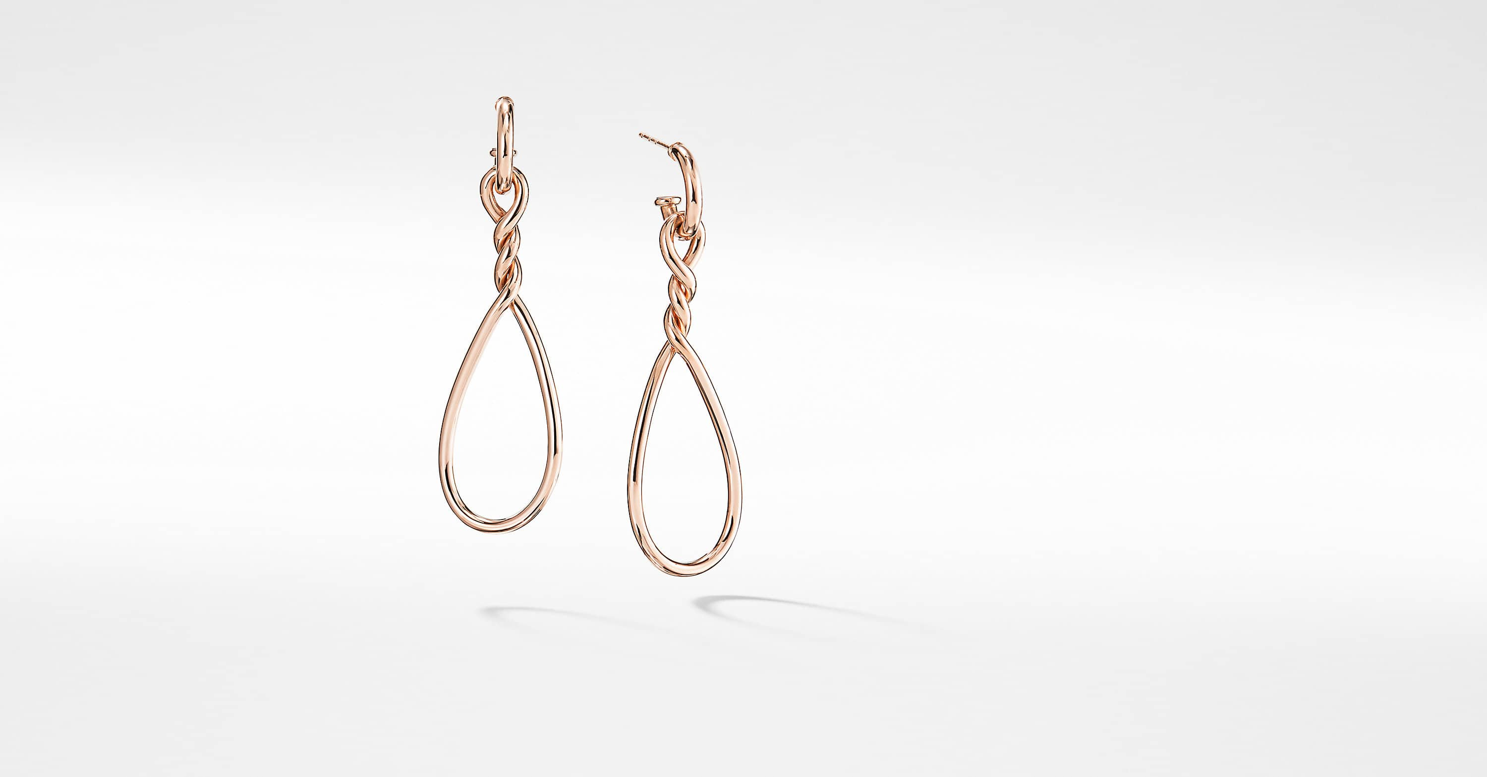 Continuance Large Drop Earrings in 18K Rose Gold