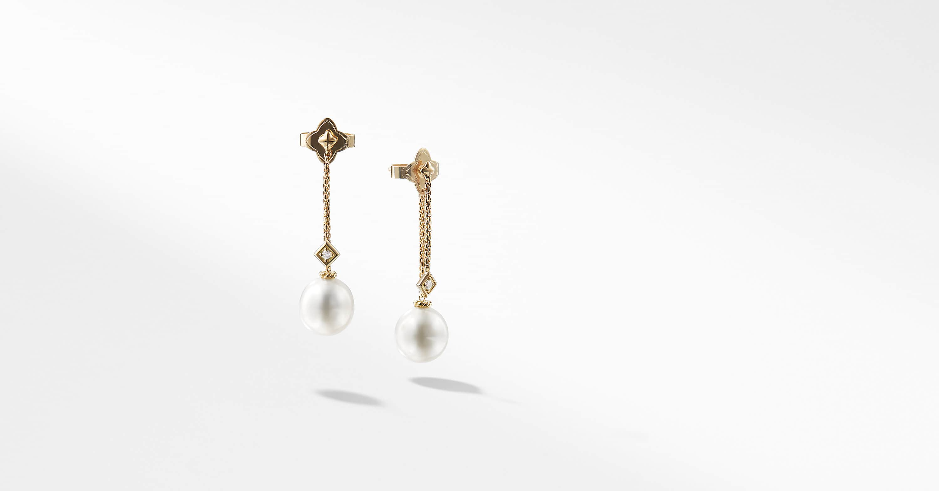 Solari Drop Earrings with Diamonds in 18k Gold