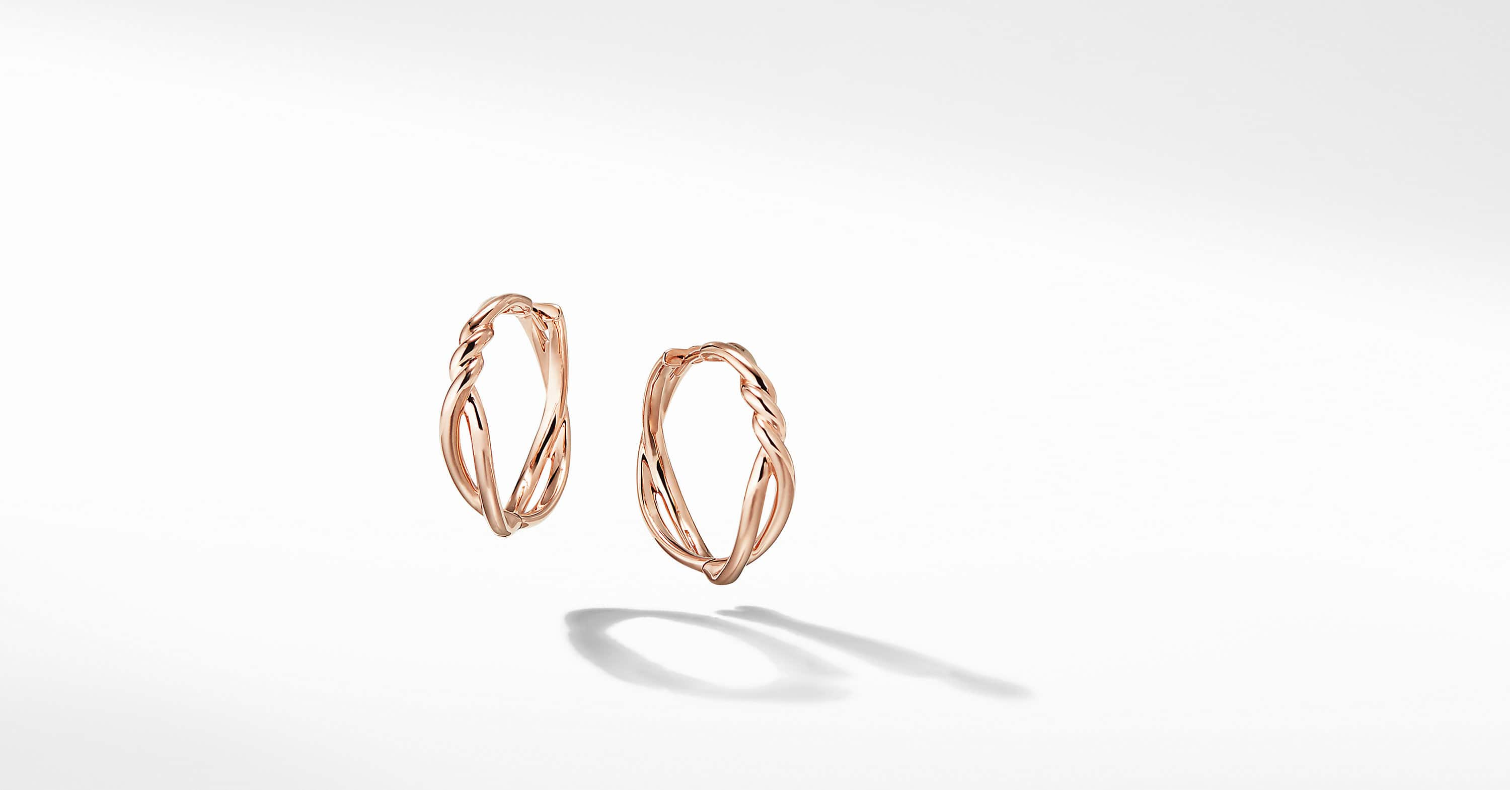 Continuance Hoop Earrings in 18K Rose Gold
