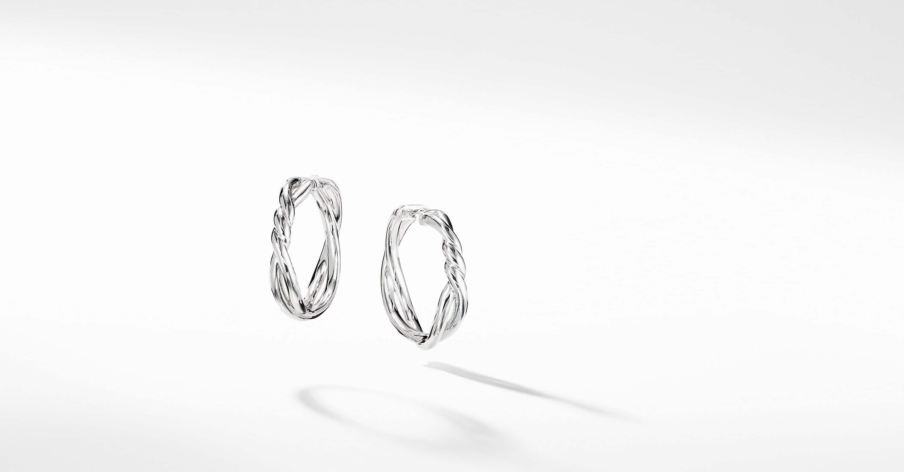 Continuance Hoop Earrings in 18K White Gold