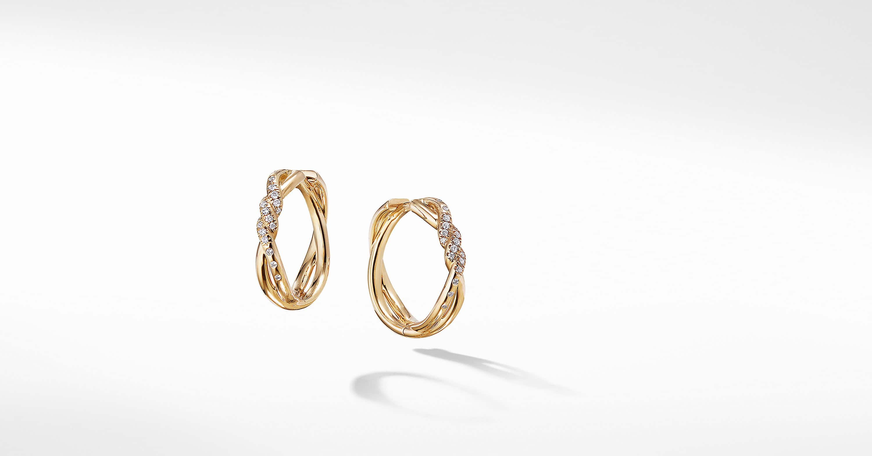 Continuance Hoop Earrings with Diamonds in 18K Gold