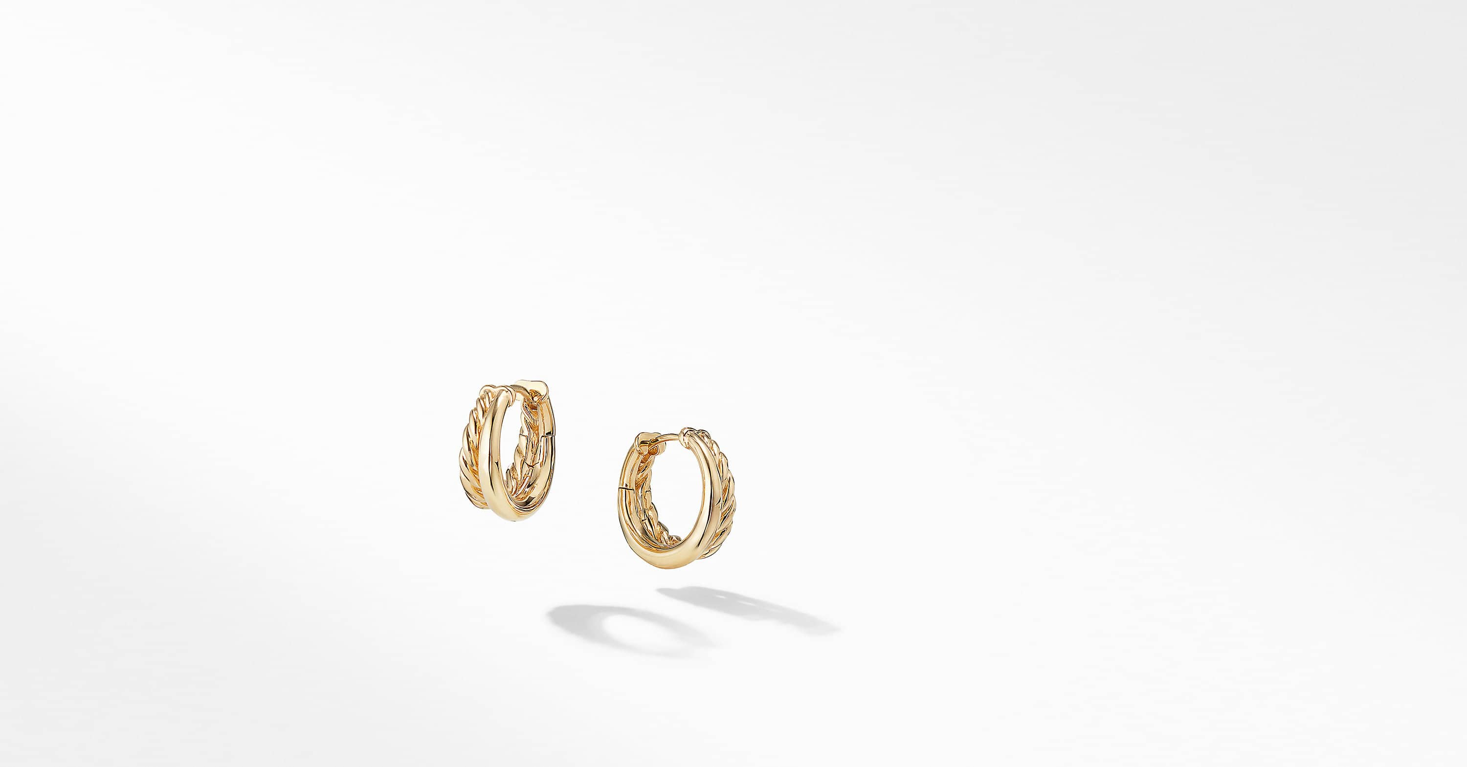 Pure Form Hoop Earrings in 18K Gold