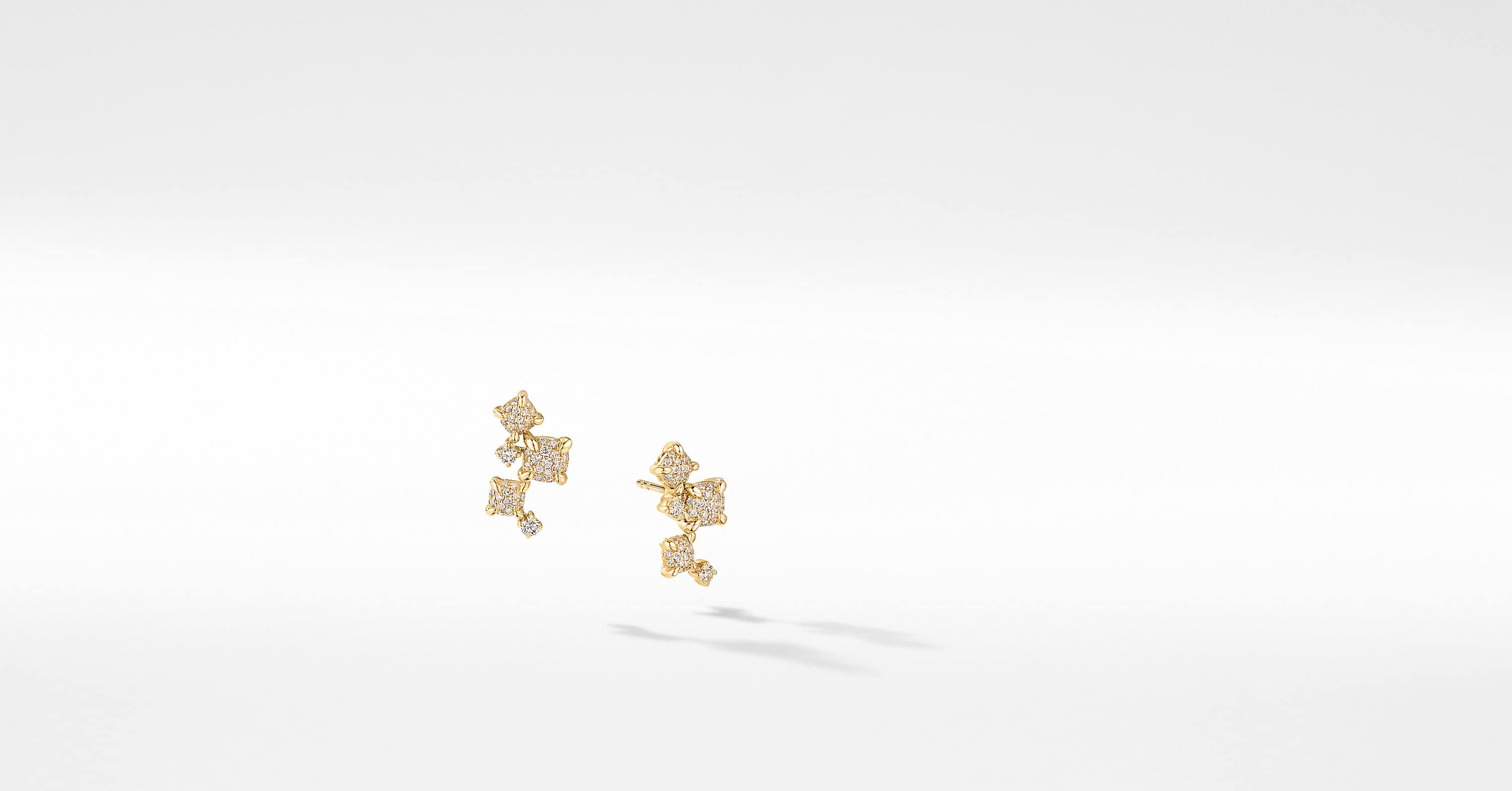 Petite Chatelaine Climber Earrings in 18K Yellow Gold with Diamonds