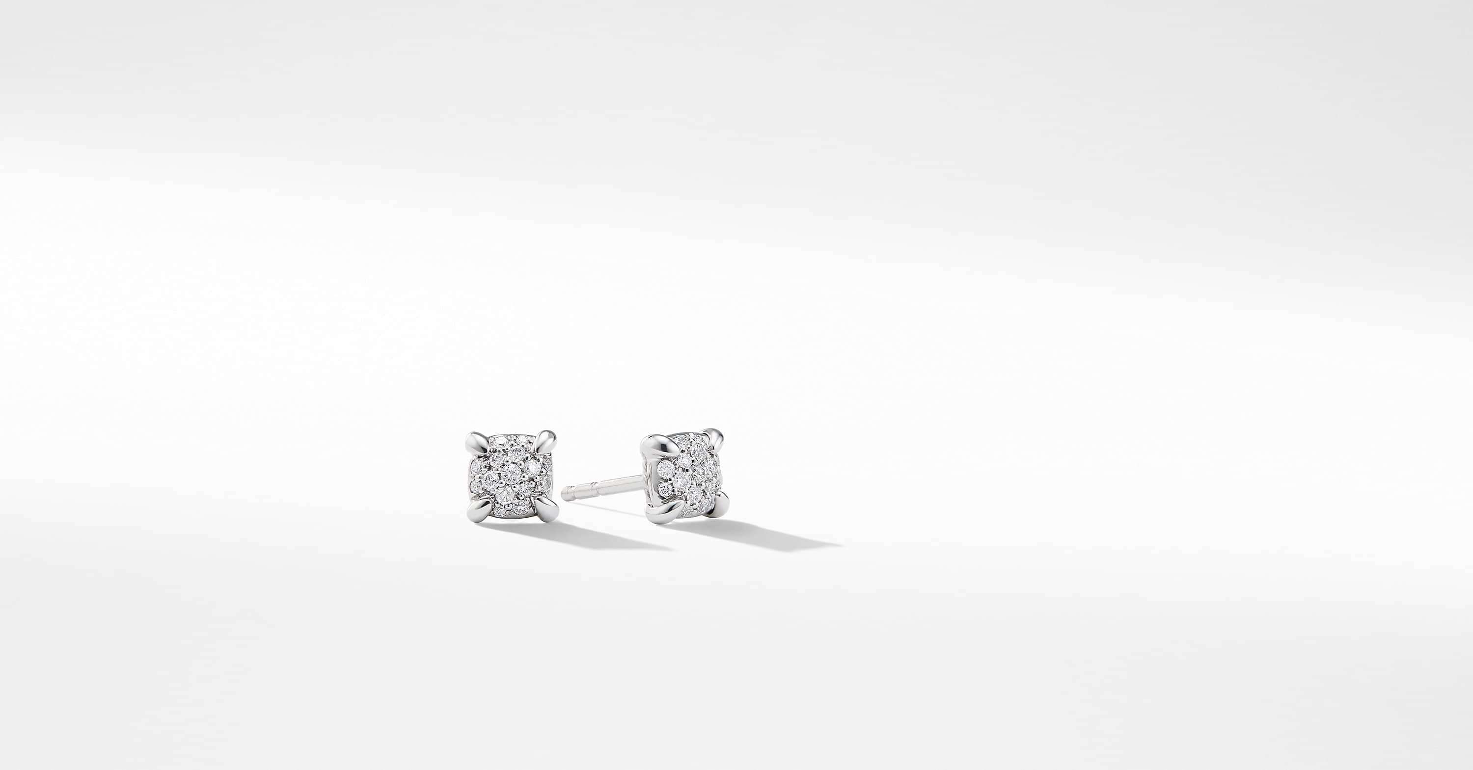 Precious Chatelaine Stud Earrings with Diamonds in 18K White Gold