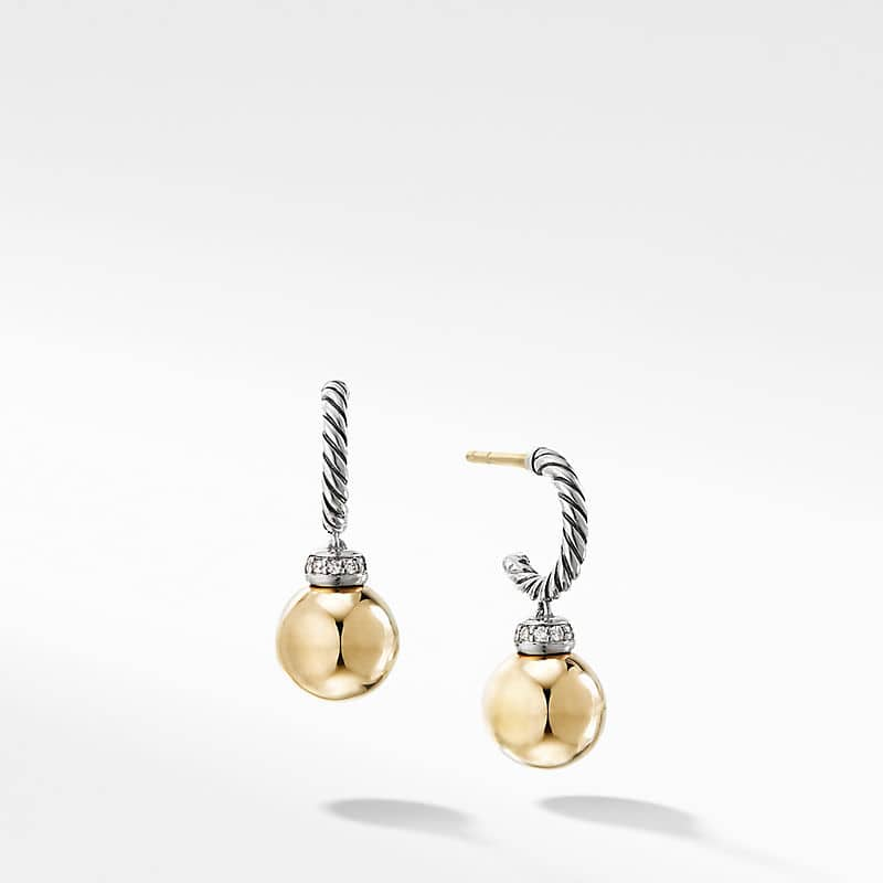 Solari Drop Earrings with Diamonds and 18K Gold