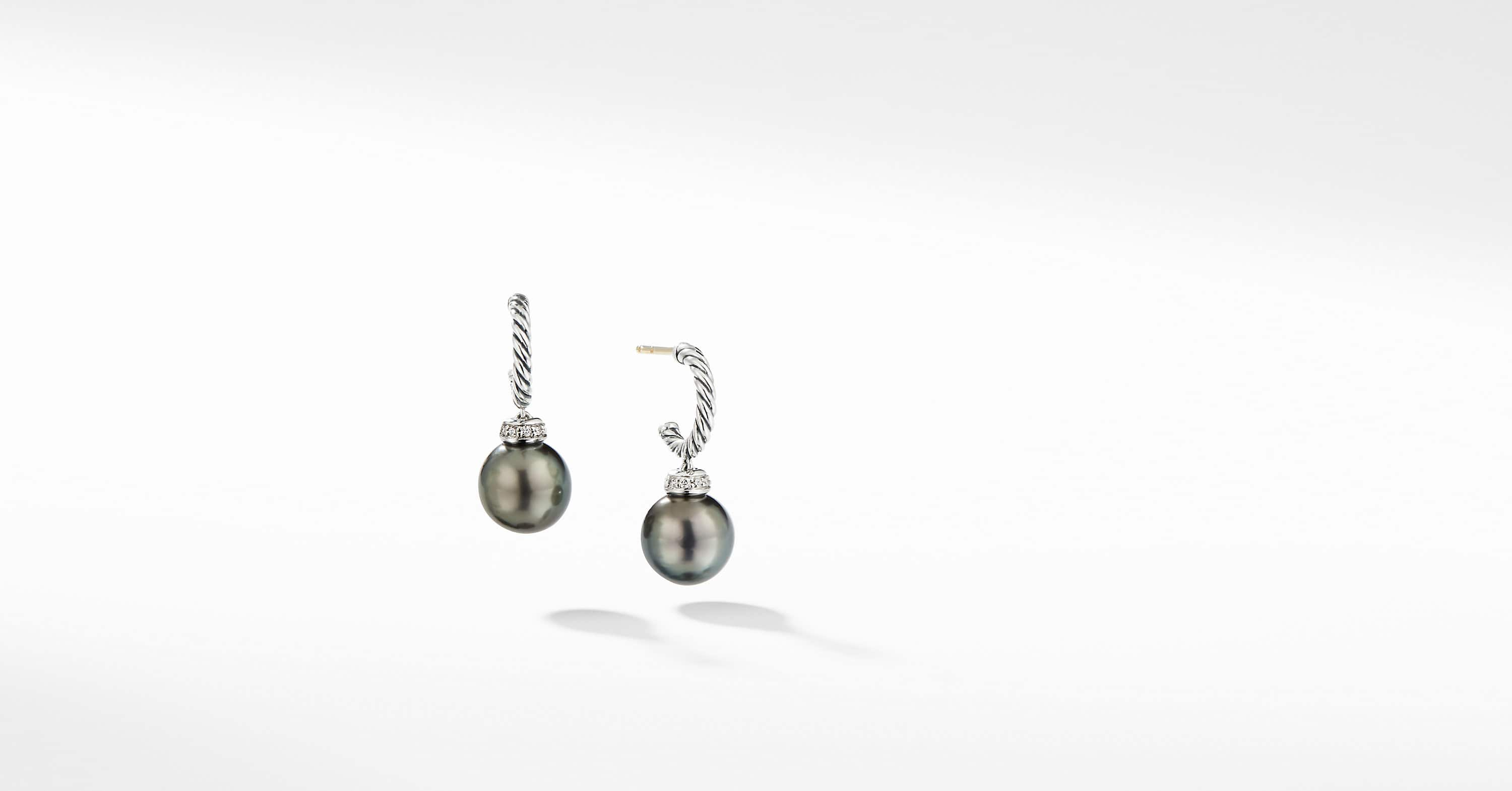 Solari Hoop Earrings with Diamonds
