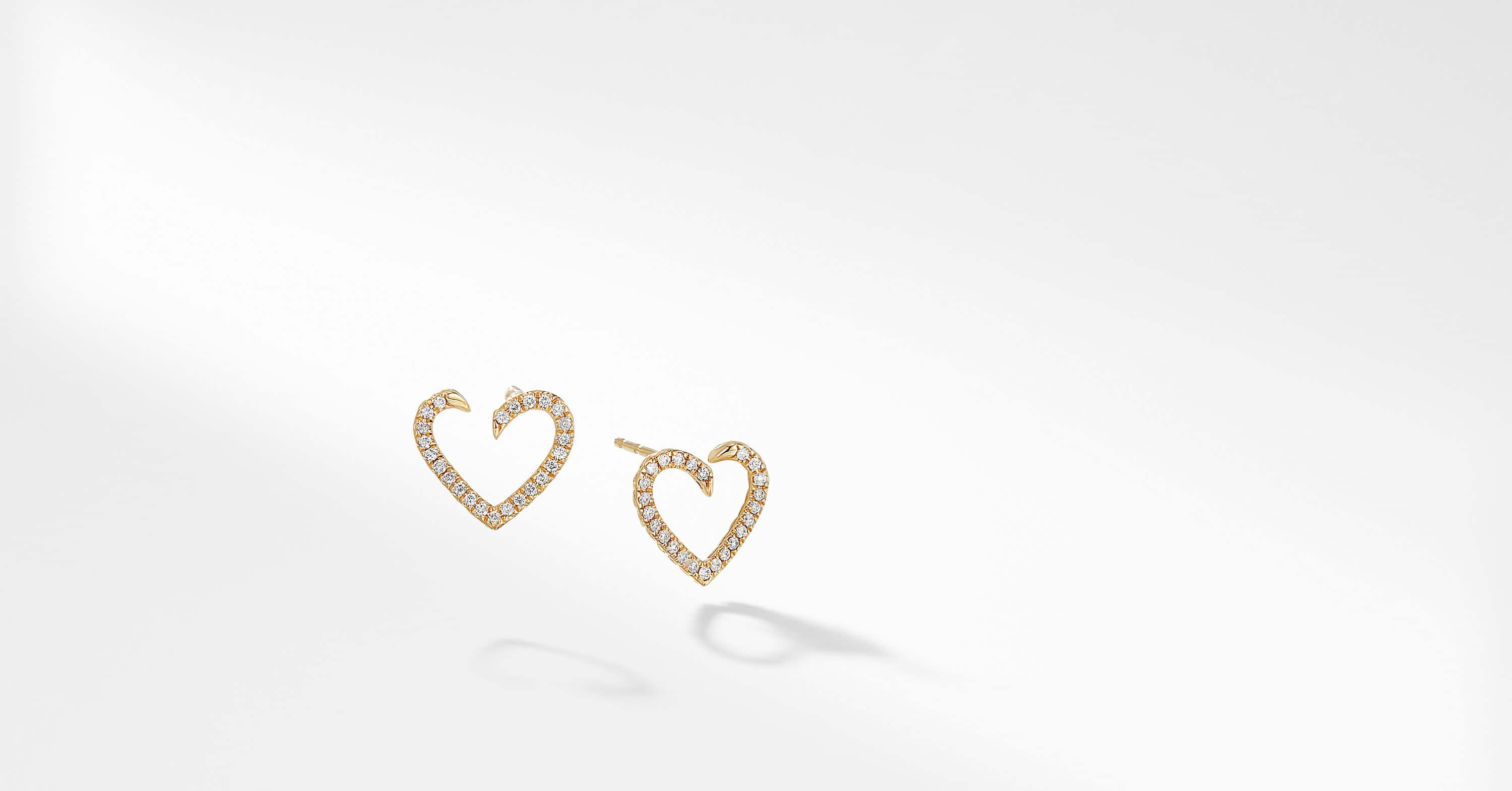 Heart Wrap Earring with Diamonds in 18K Gold