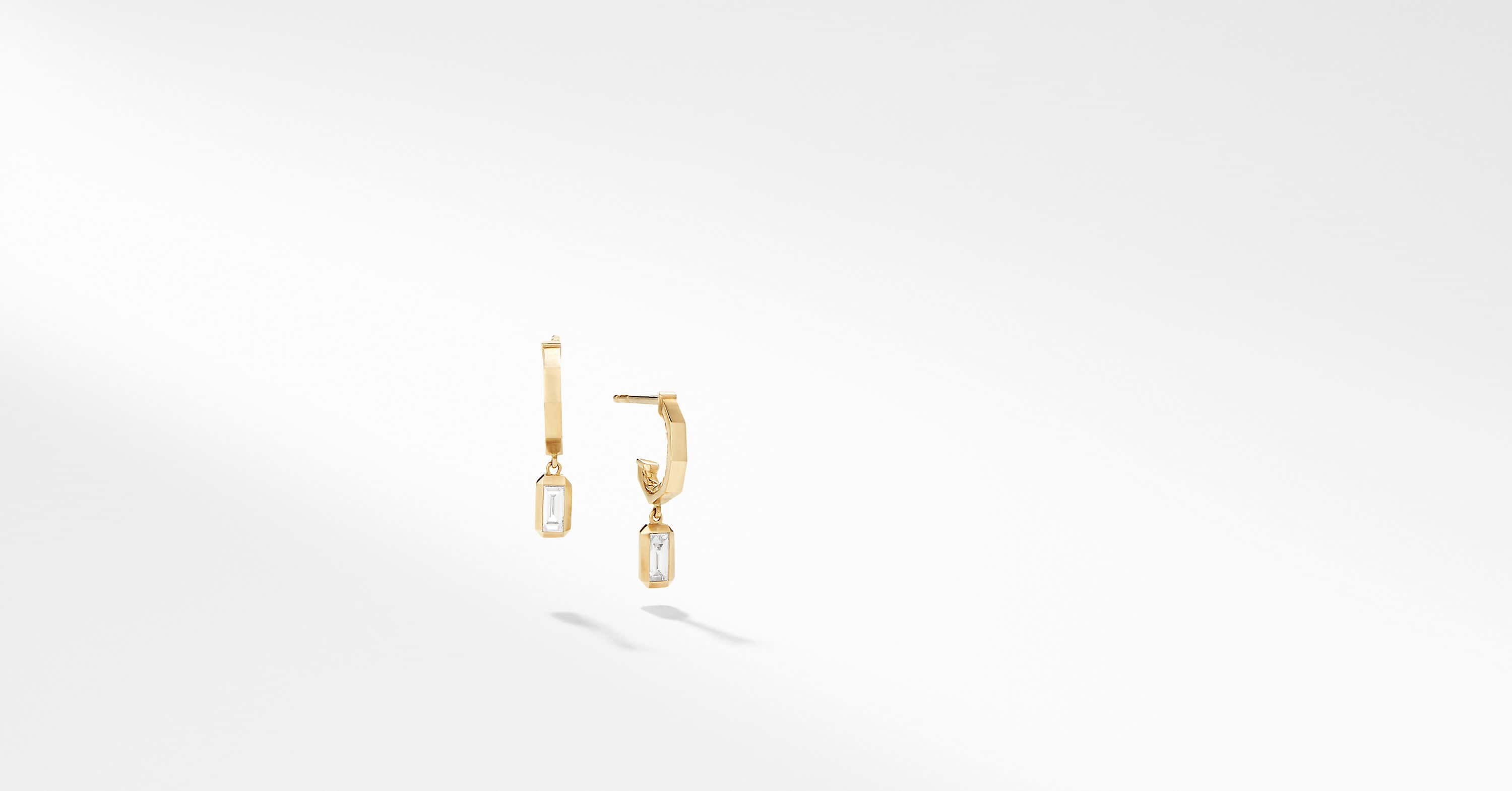 Novella Hoop Earrings with Diamonds in 18K Yellow Gold