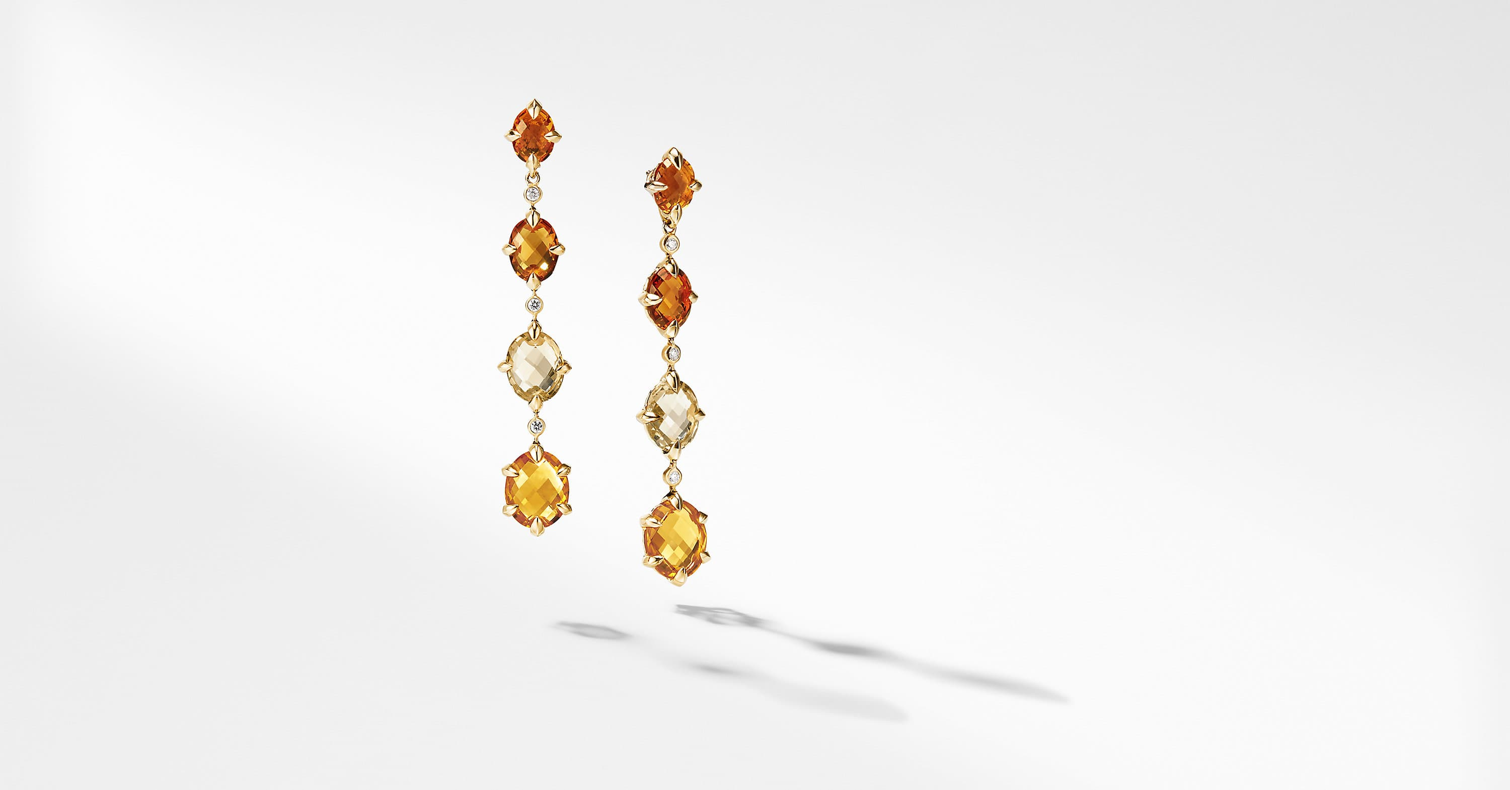 Chatelaine Drop Earrings in 18K Gold