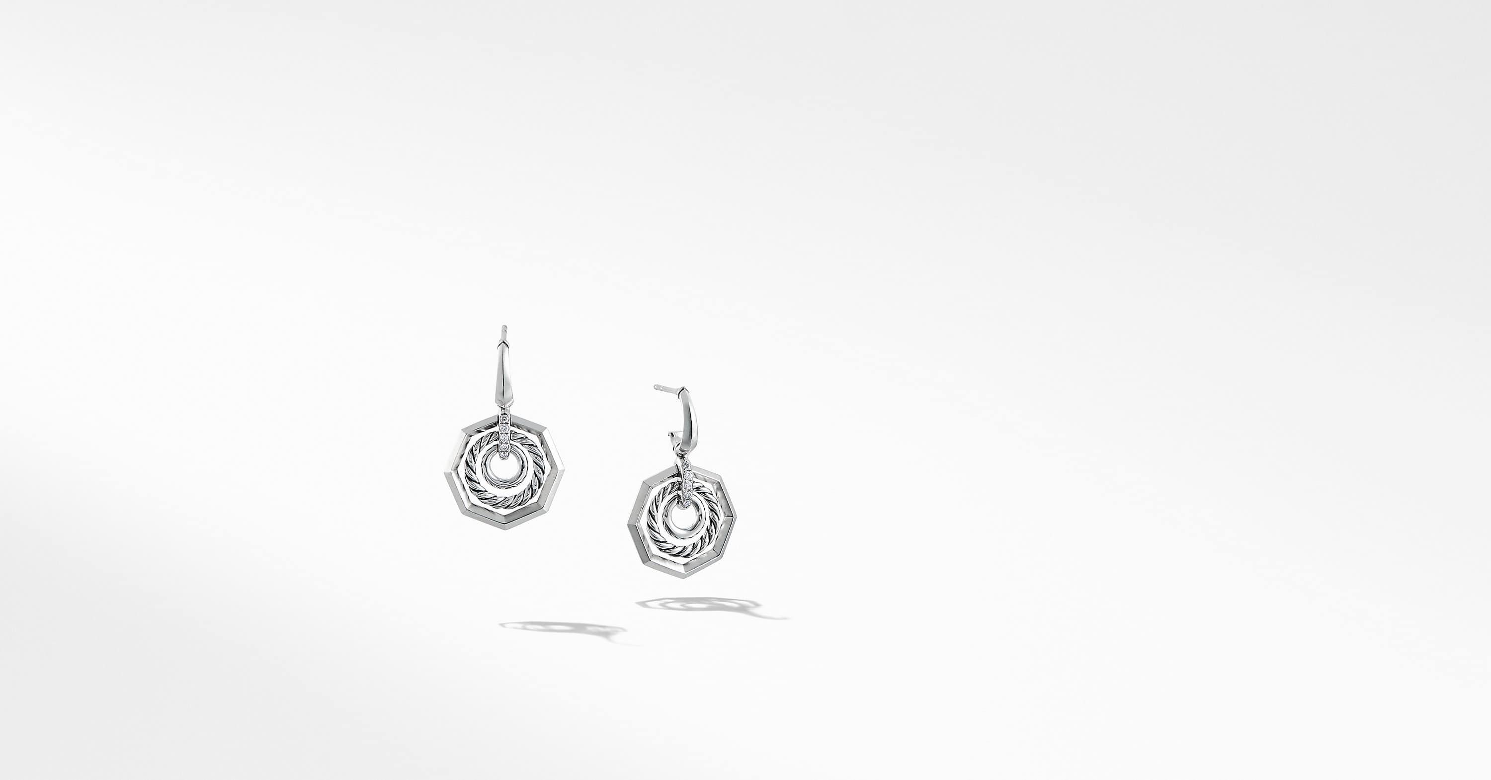 Stax Drop Earring with Diamonds