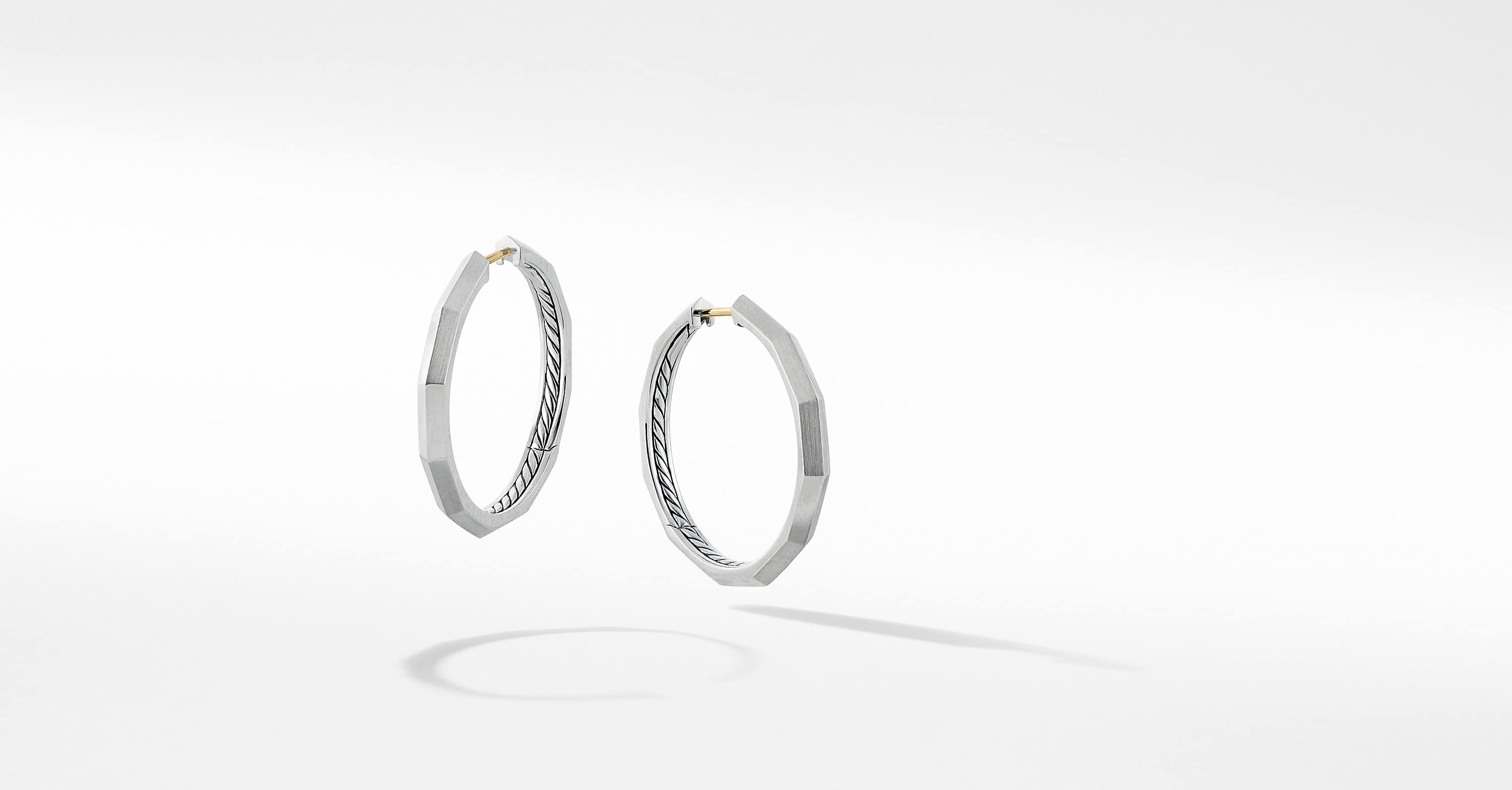 Stax Faceted Hoop Earring