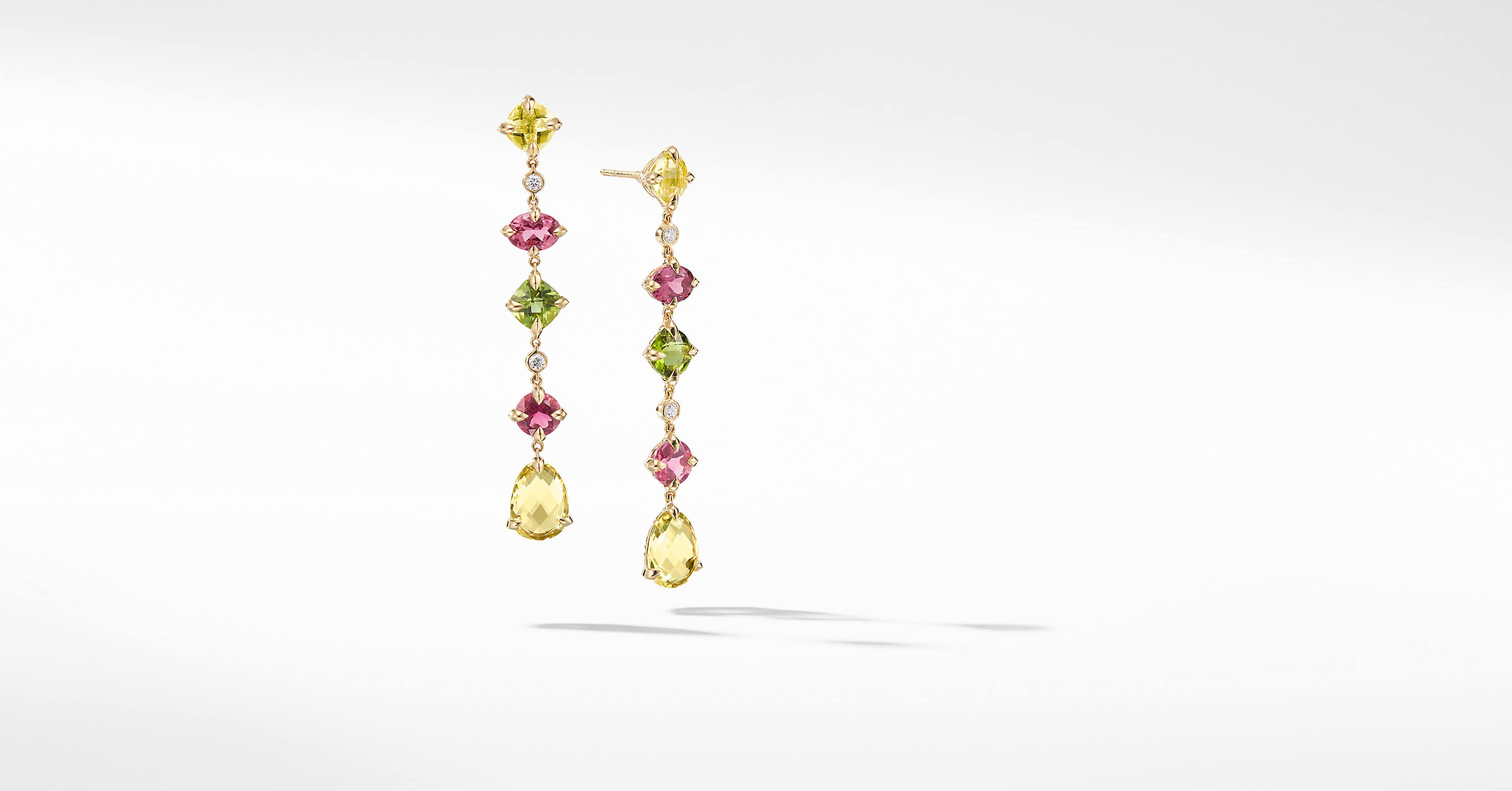 Chatelaine Multi Drop Earrings in 18K Yellow Gold with Diamonds