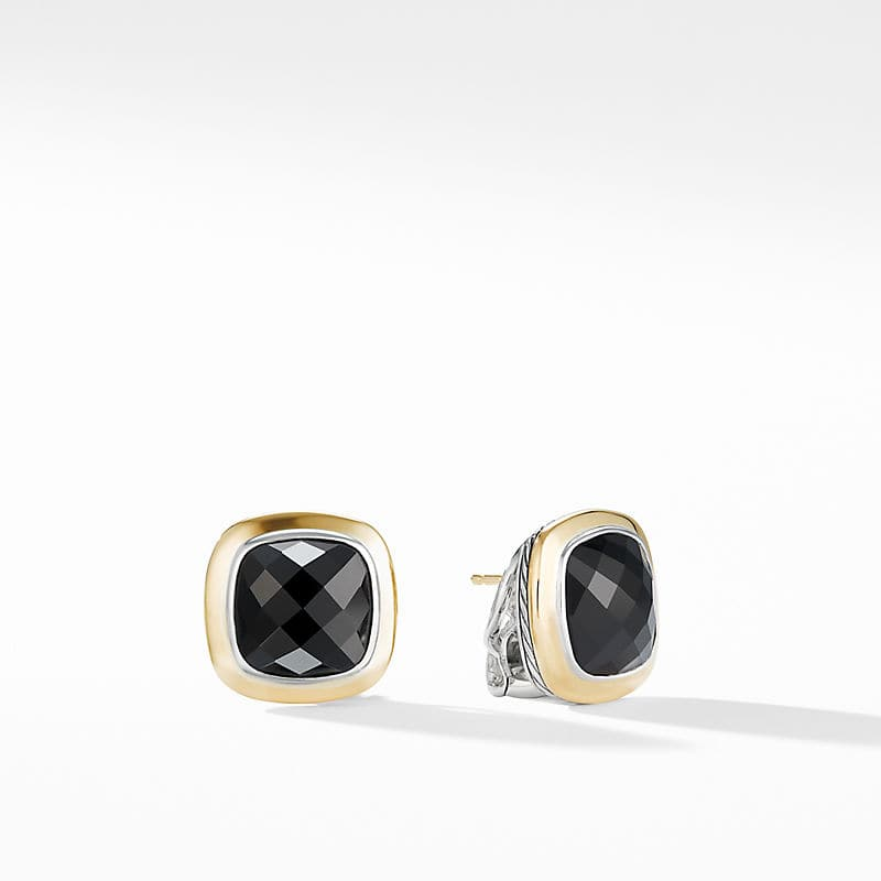 Albion Stud Earrings with 18K Gold, 11mm
