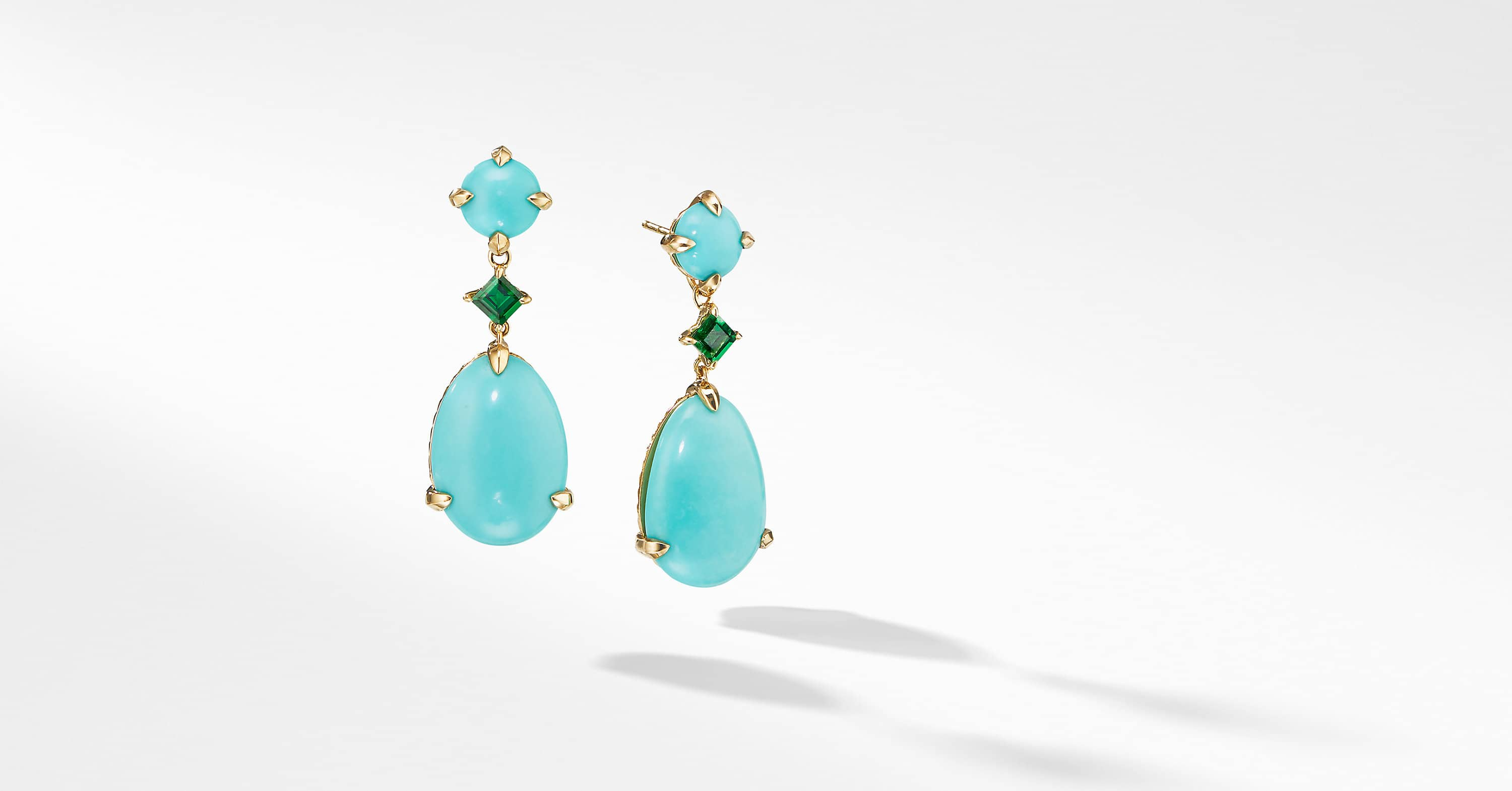 Chatelaine Drop Earrings in 18K Yellow Gold