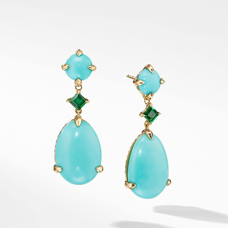 Chatelaine® Drop Earrings in 18K Yellow Gold with