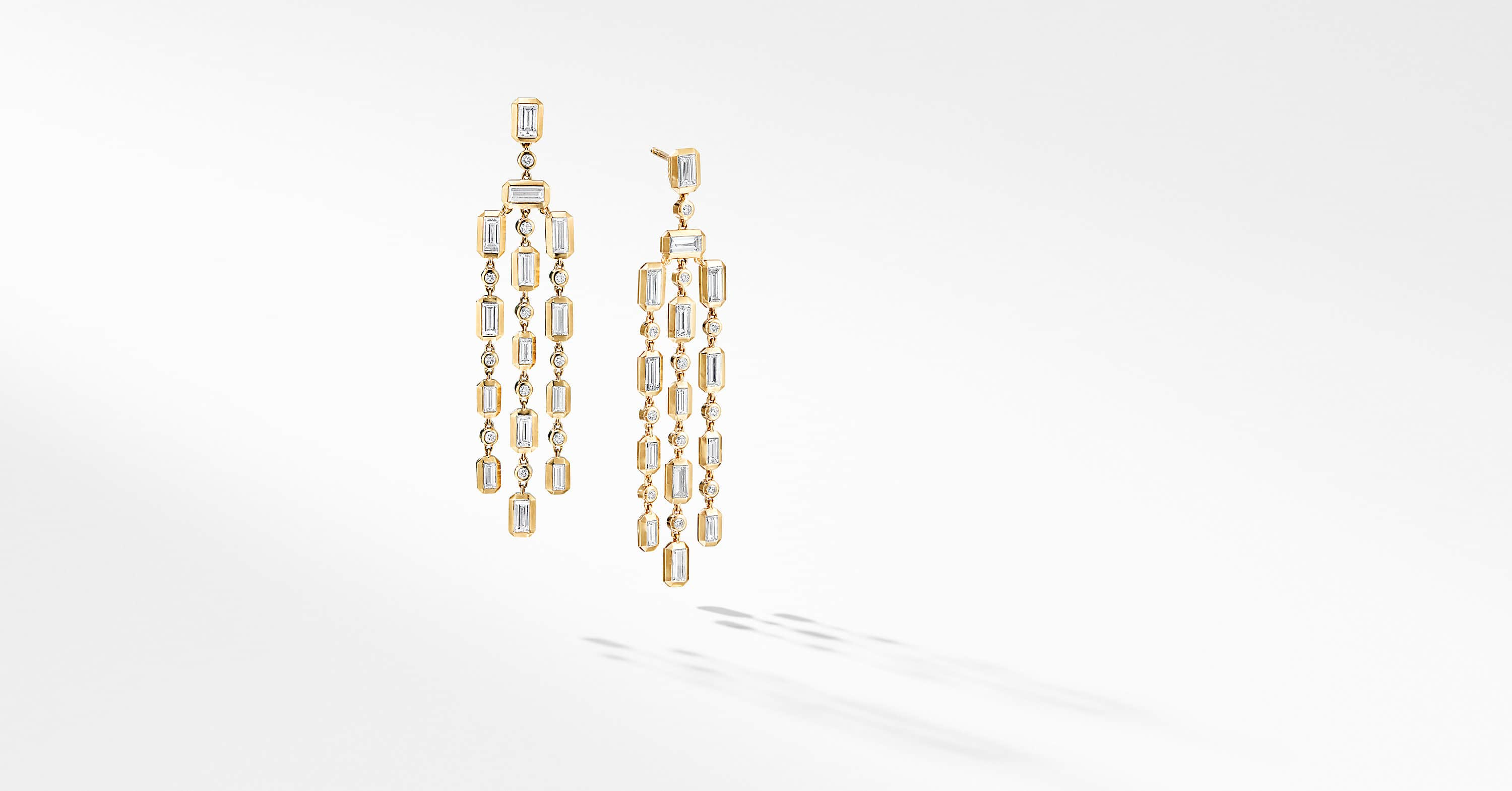 Novella Chandelier Earrings in 18K Yellow Gold