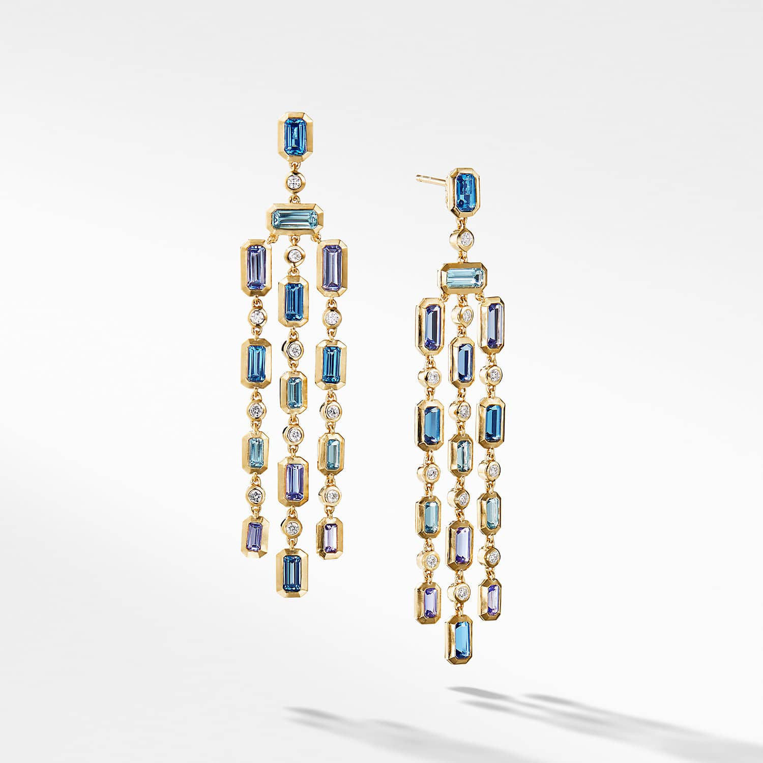 Novella chandelier earrings in 18k yellow gold novella chandelier earrings in hampton blue topaz and tanzanite with diamonds product image aloadofball Image collections