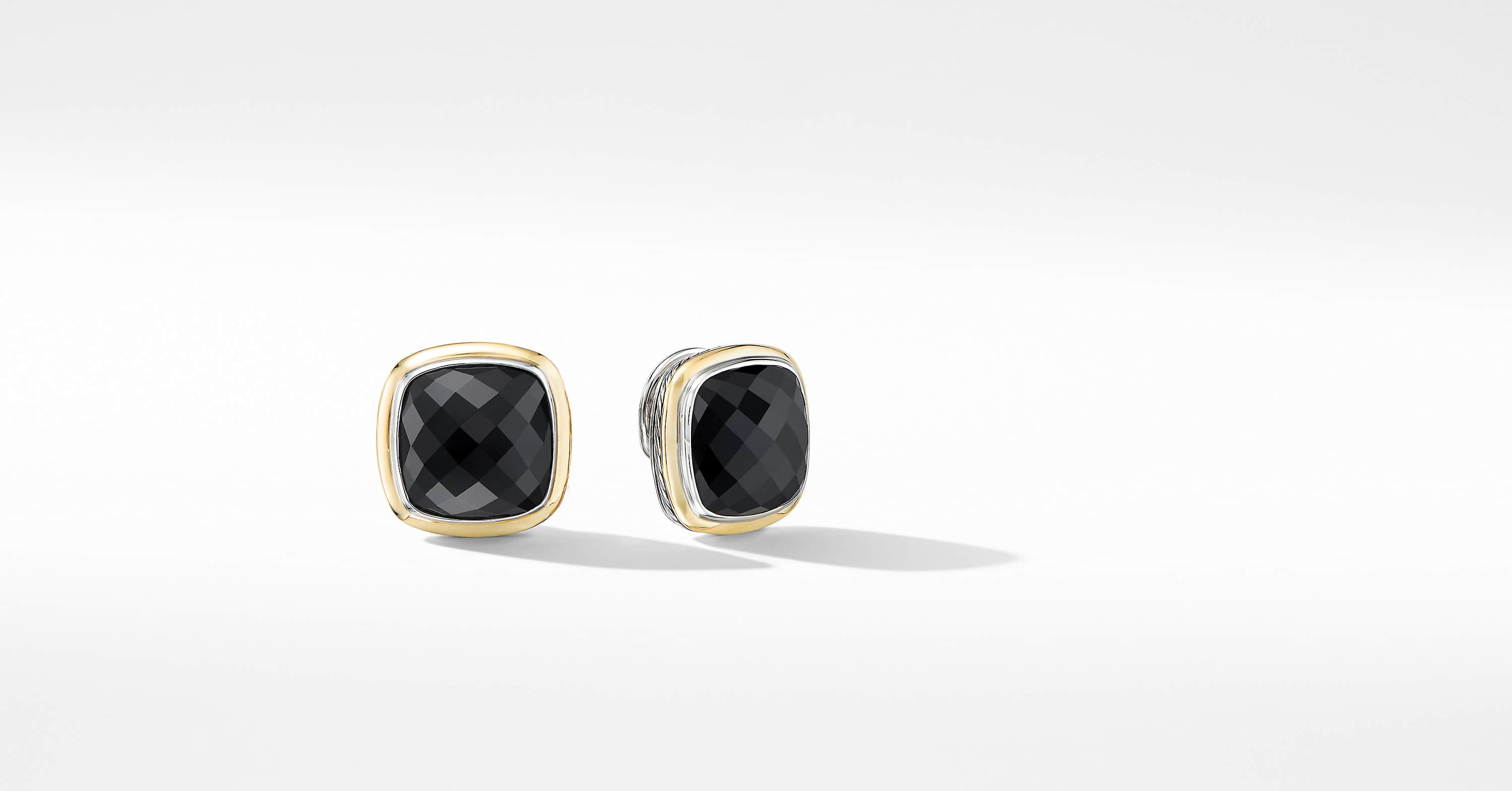 Albion Stud Earrings with 18K Yellow Gold