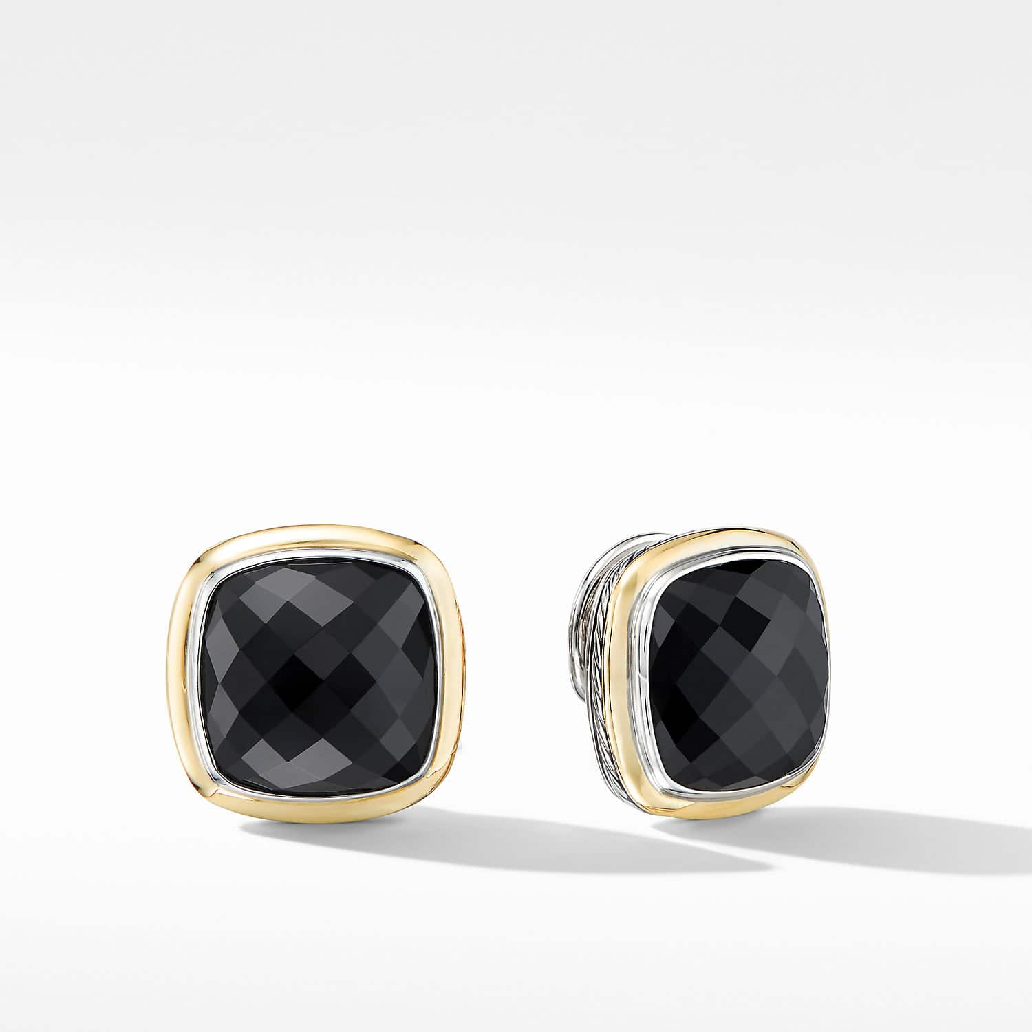 Albion Stud Earrings With Black Onyx And 18k Yellow Gold