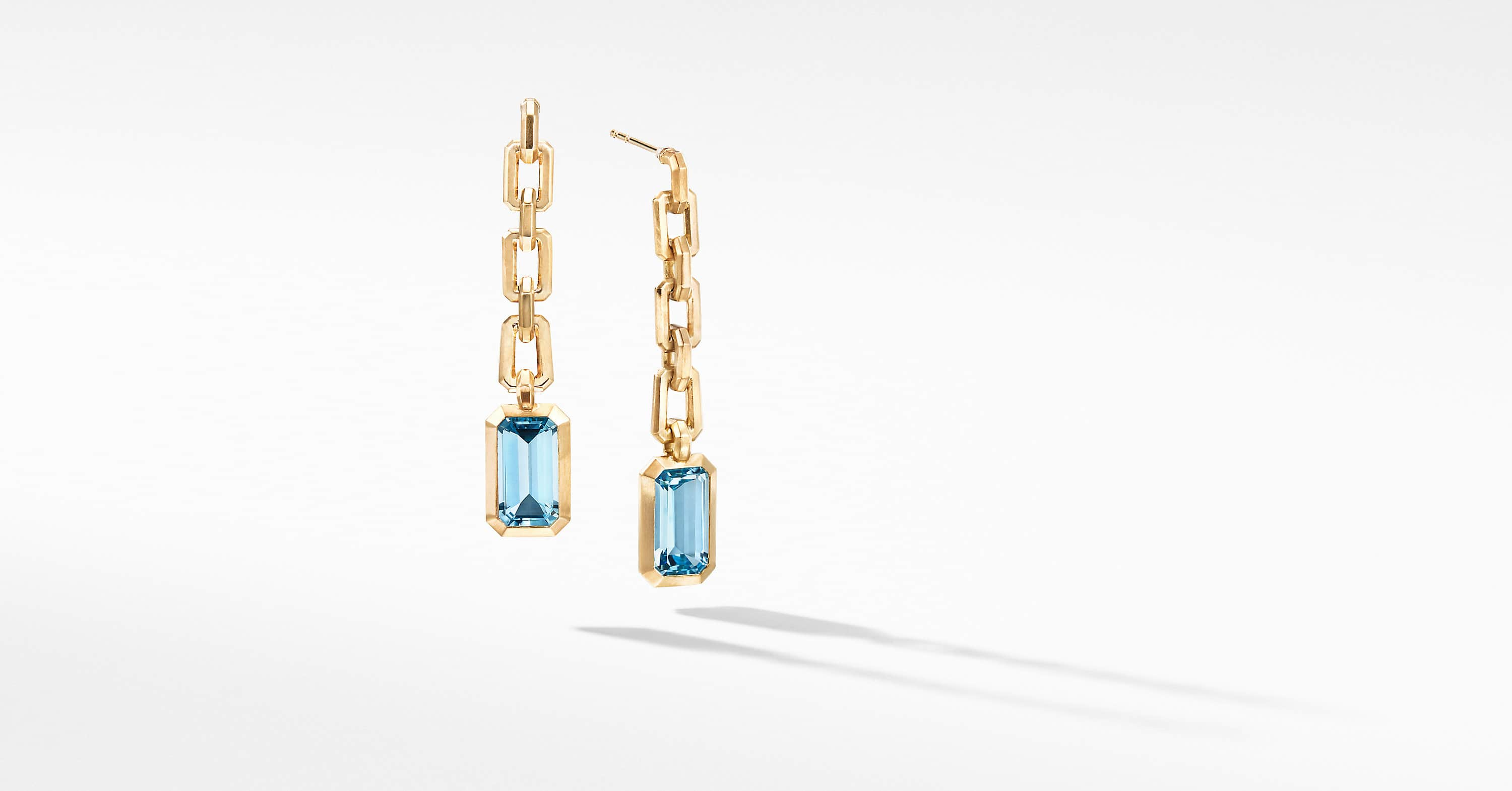 Novella Chain Drop Earrings in 18K Yellow Gold