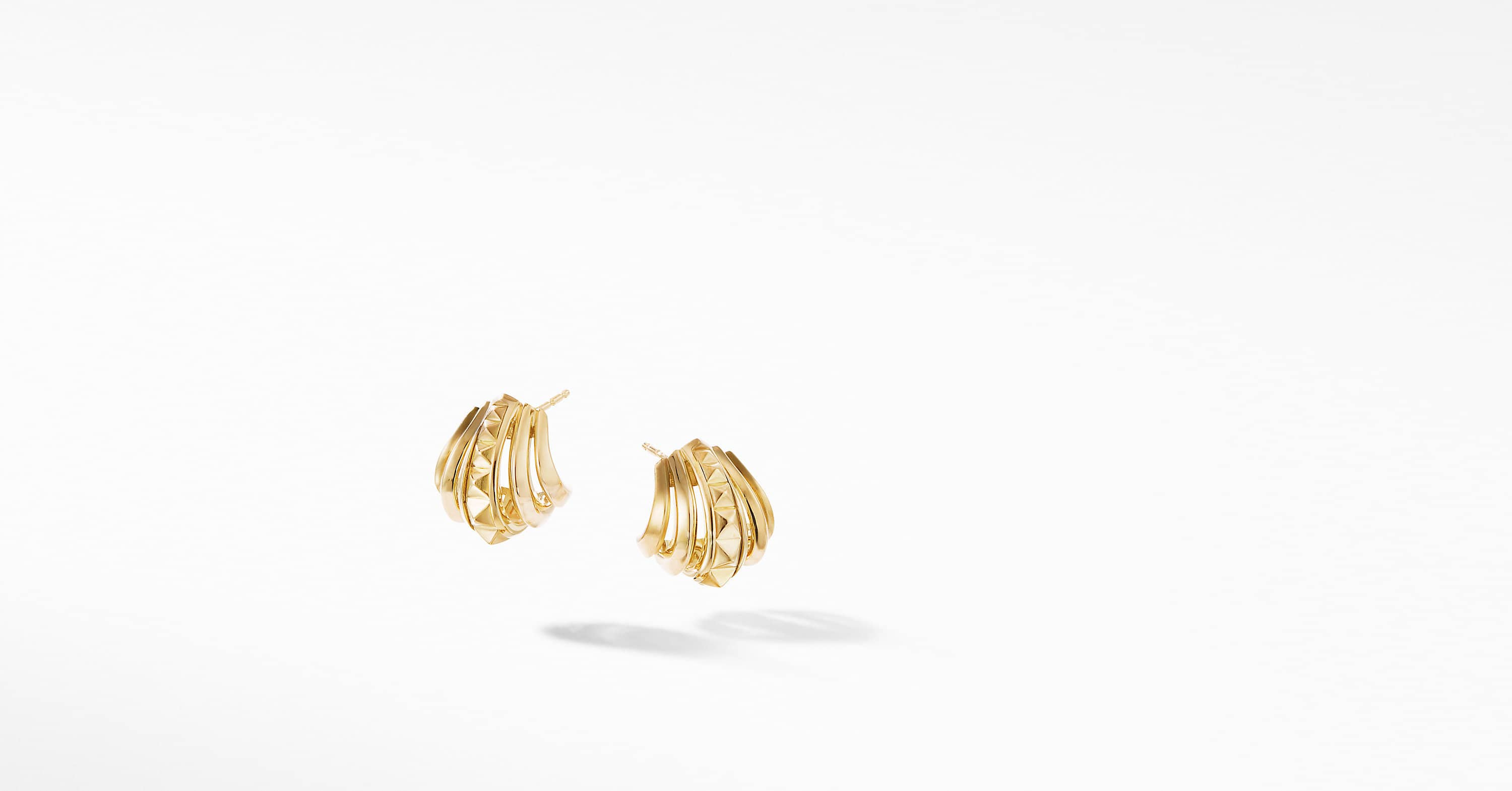 Modern Renaissance Huggie Earrings in 18K Yellow Gold