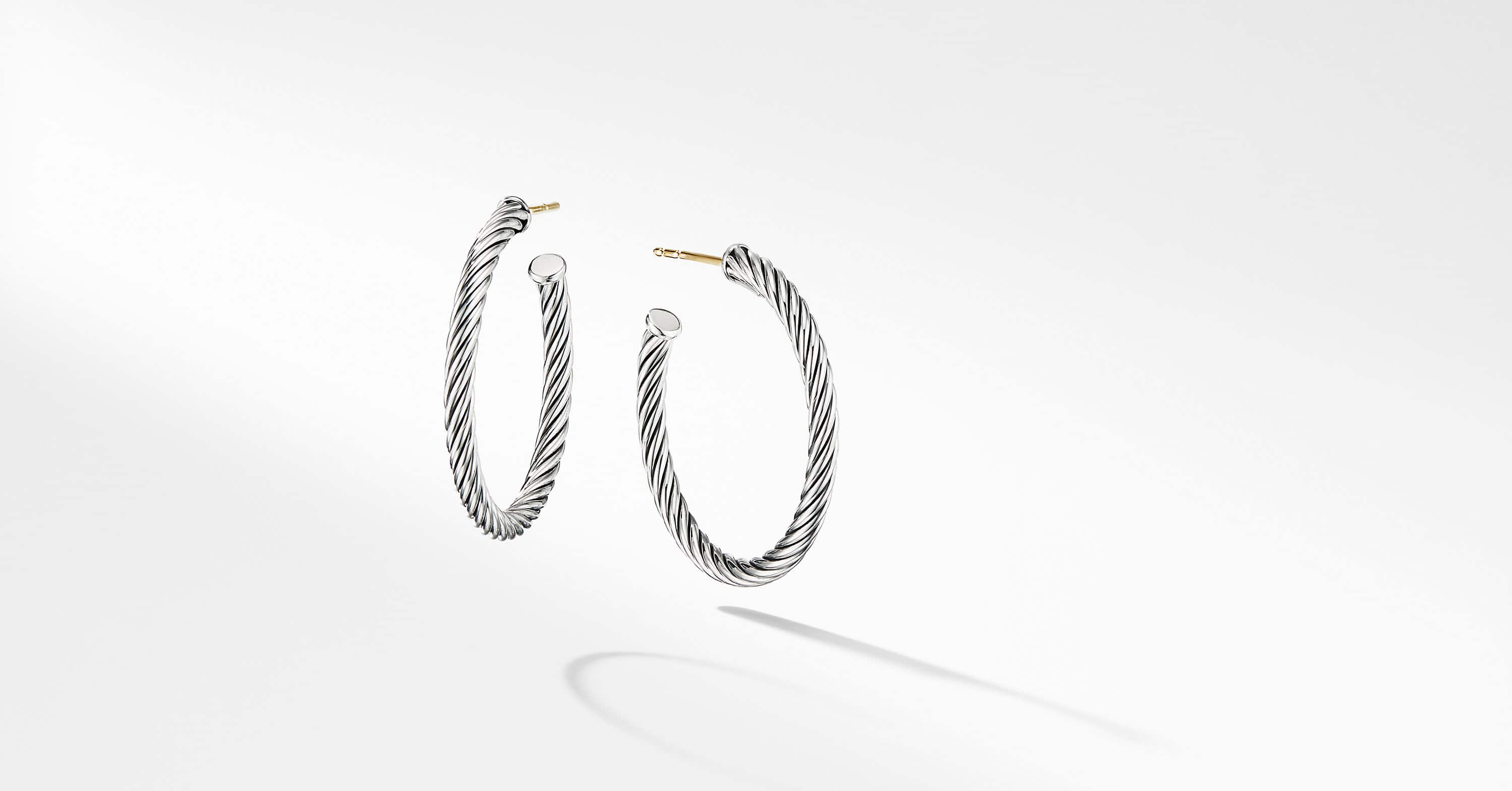Cable Hoop Earrings