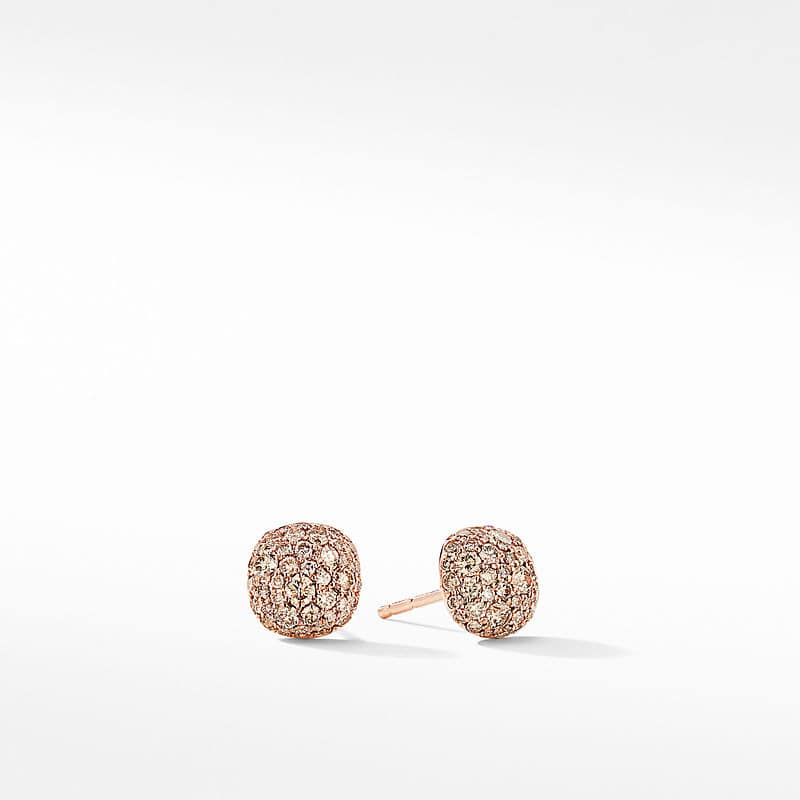 Small Cushion Stud Earrings in 18K Rose Gold
