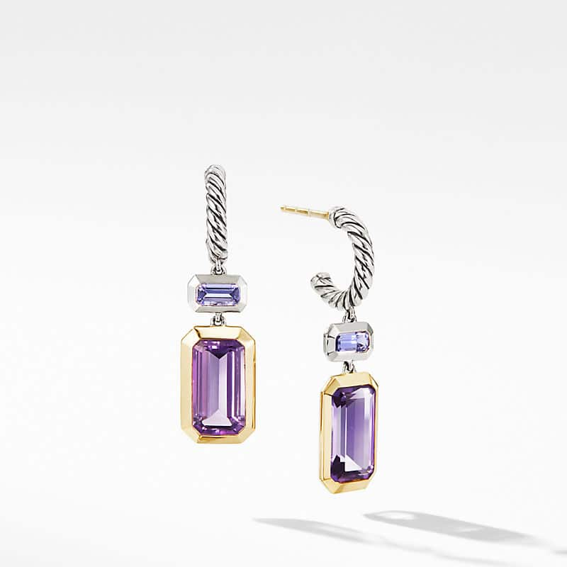 Novella Drop Earrings with Amethyst and 18K Yellow