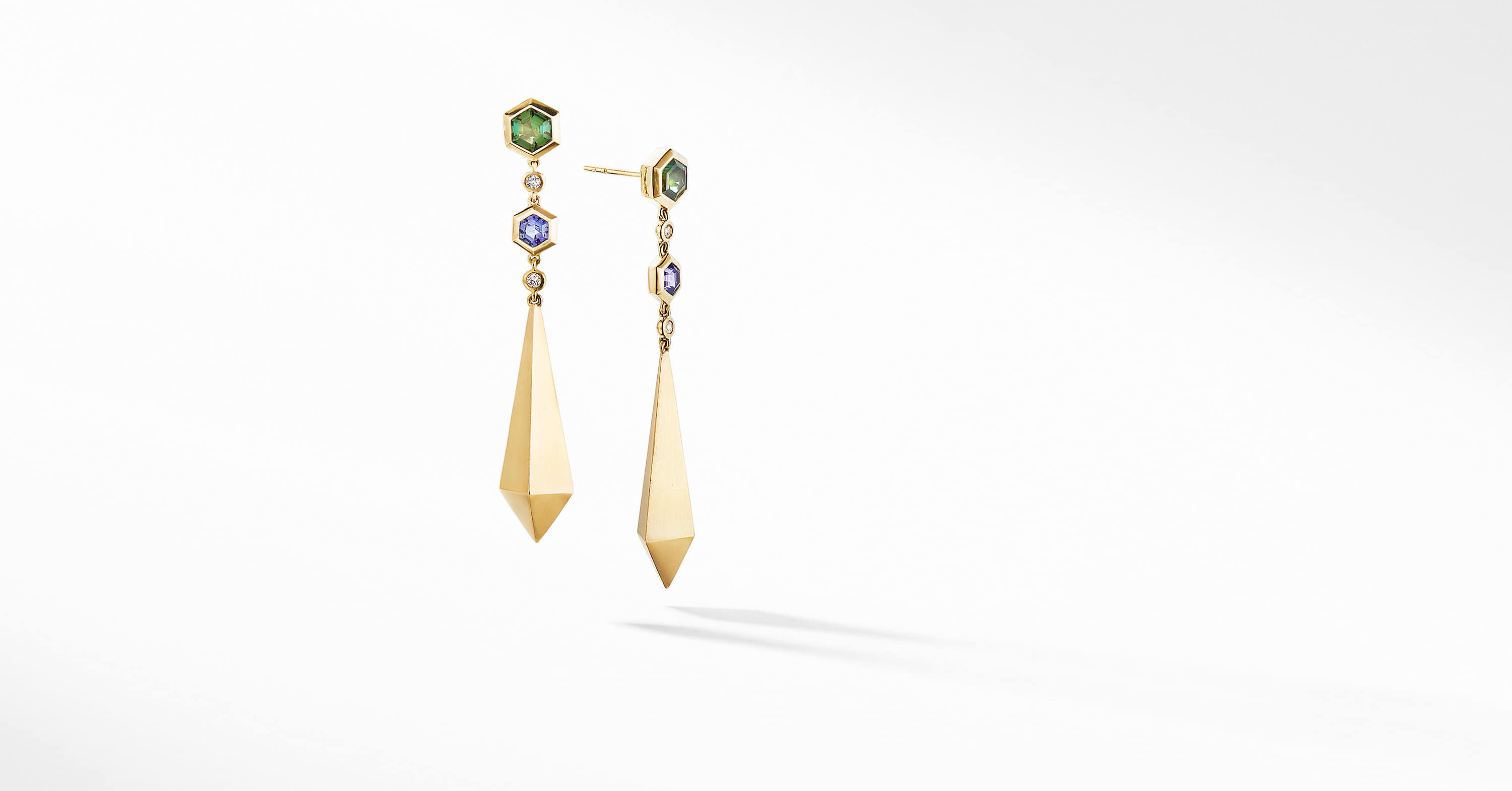 Bold Renaissance Drop Earrings in 18K Yellow Gold
