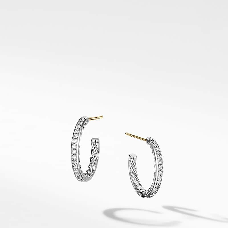 Extra-Small Hoop Earrings with Pavé
