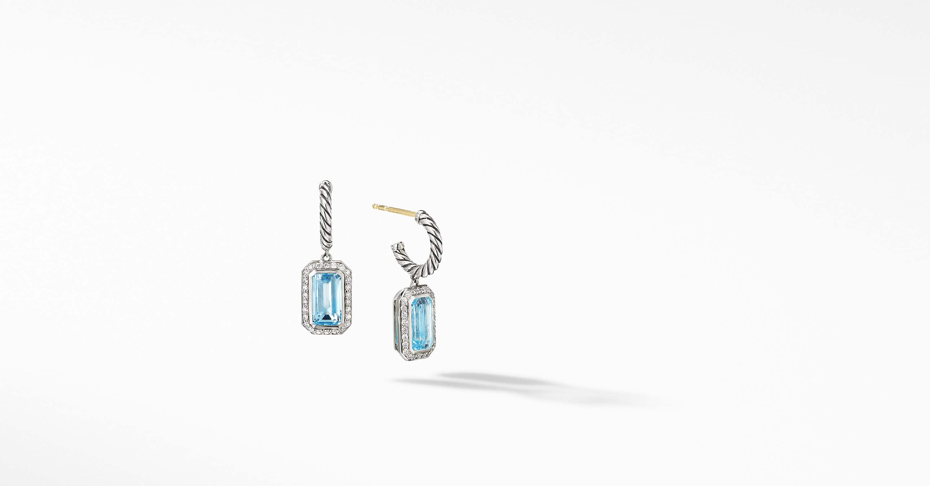 Novella Drop Earrings with Pavé