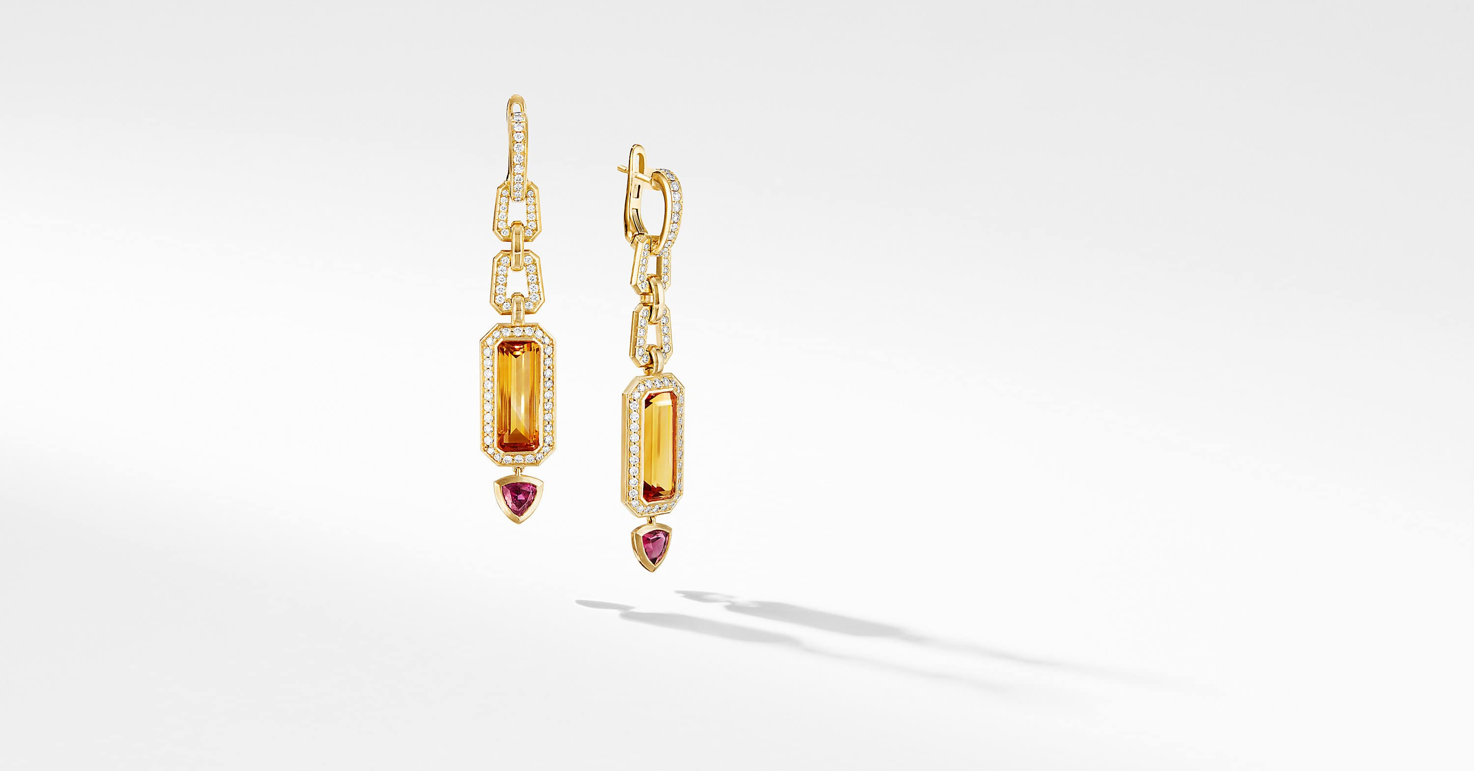 Novella Mosaic Drop Earrings in 18K Yellow Gold with Diamonds