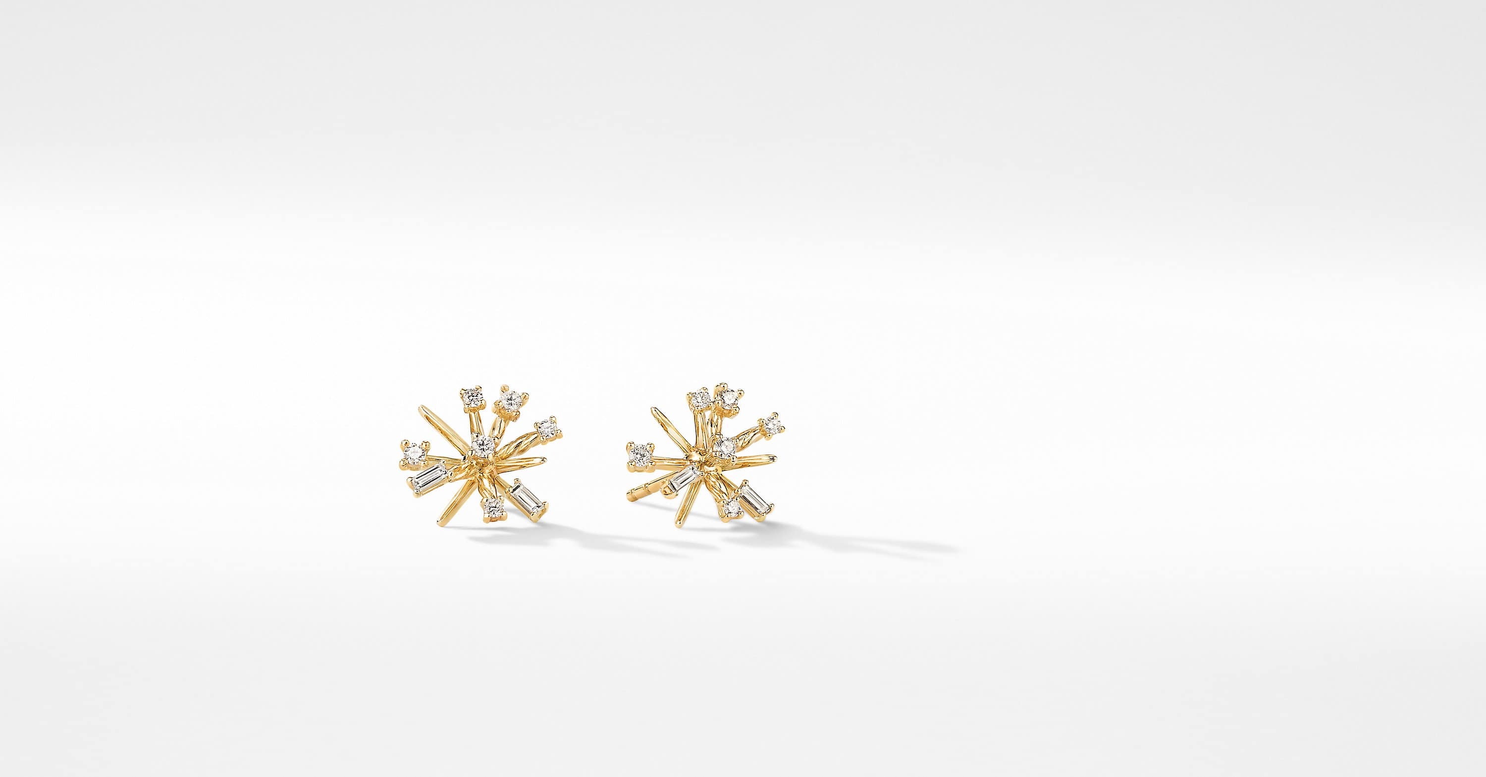 Petite Supernova Stud Earrings in 18K Yellow Gold with Dimaonds