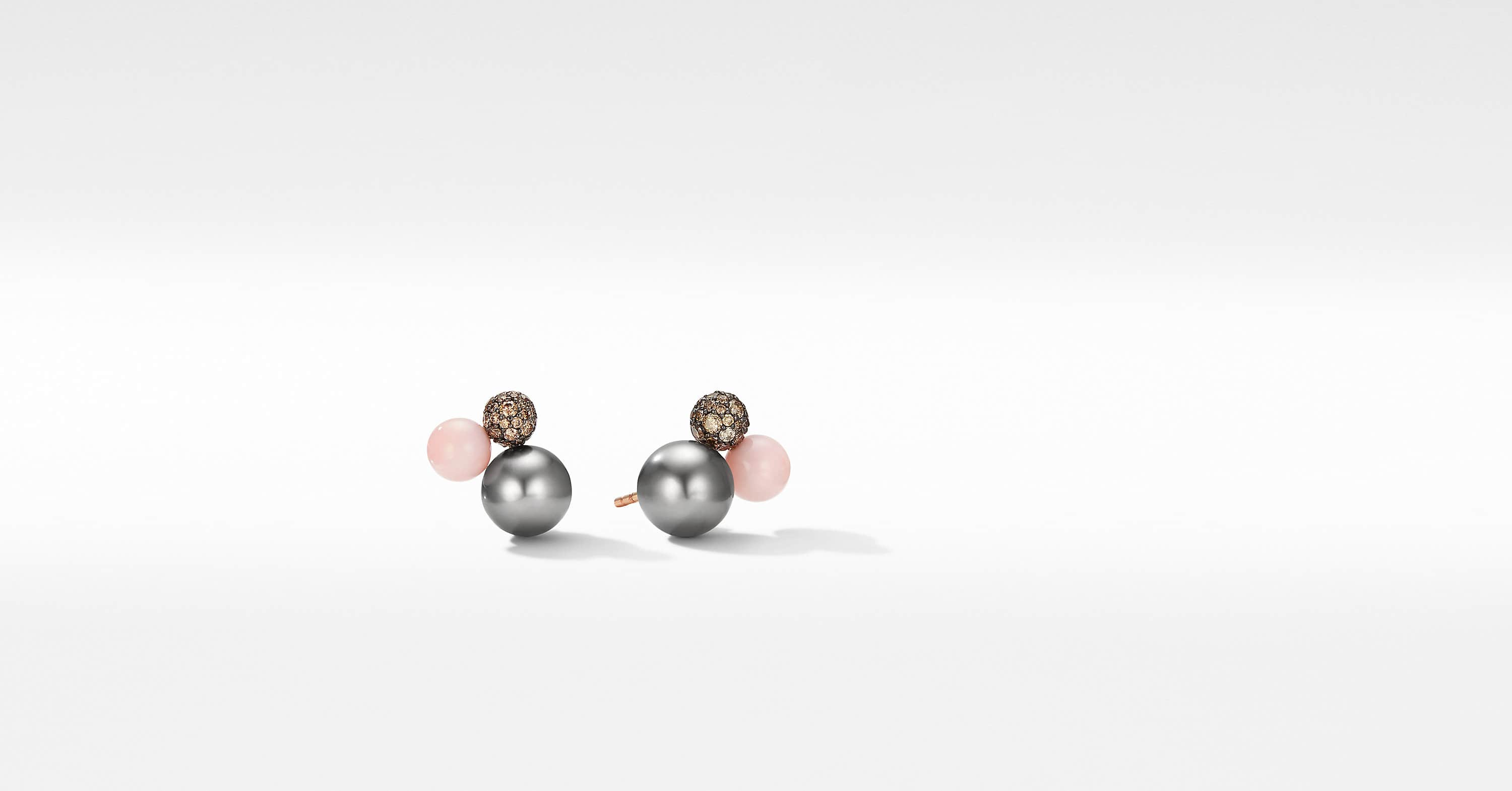 Clous d'oreilles en grappe Solari en or rose 18 carats avec diamants