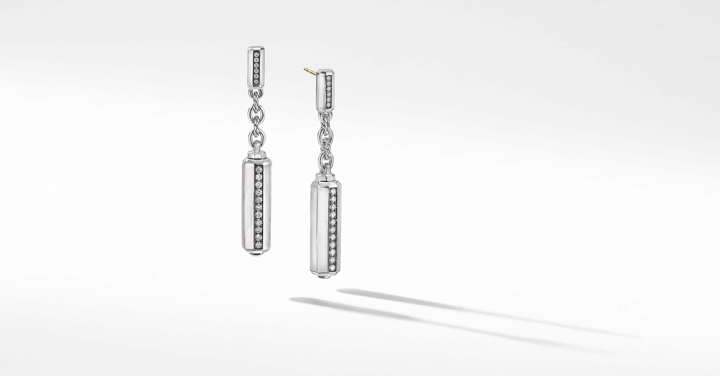 Lexington Drop Earrings with Diamonds