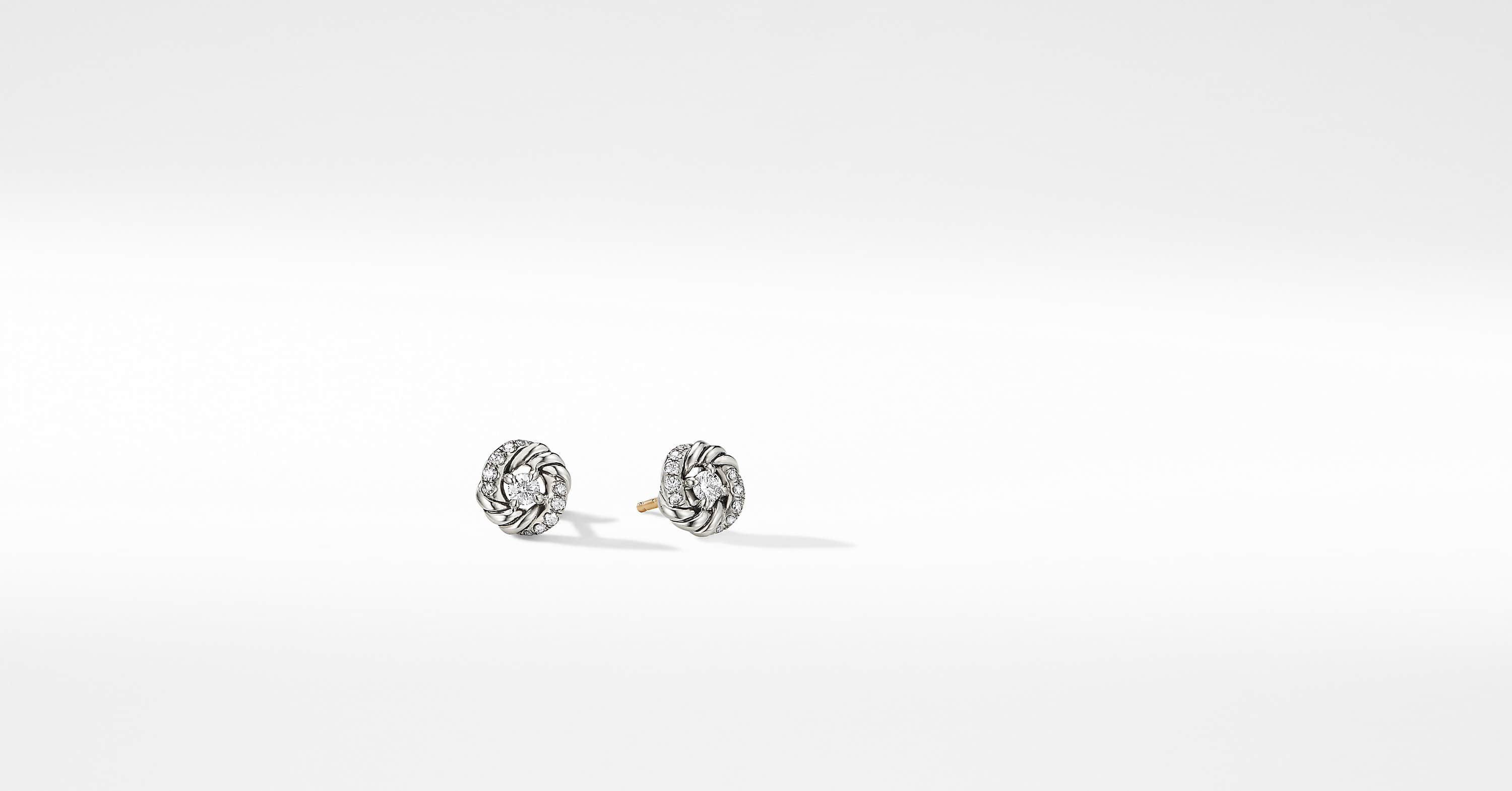 Petite Infinity Stud Earrings with Diamonds