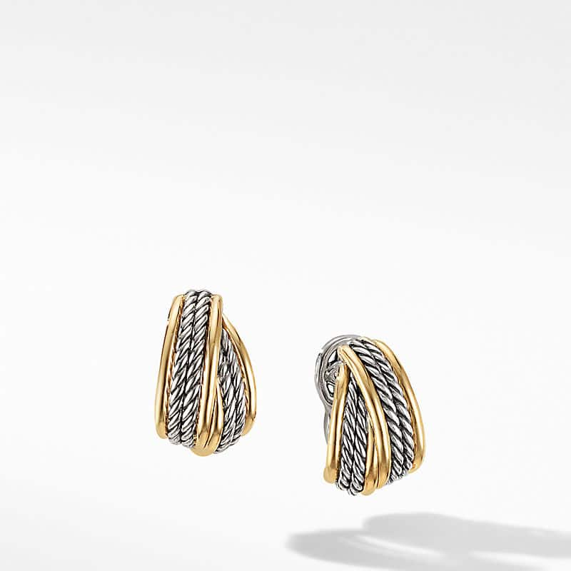 DY Origami Shrimp Earrings with 18K Yellow Gold, 11mm