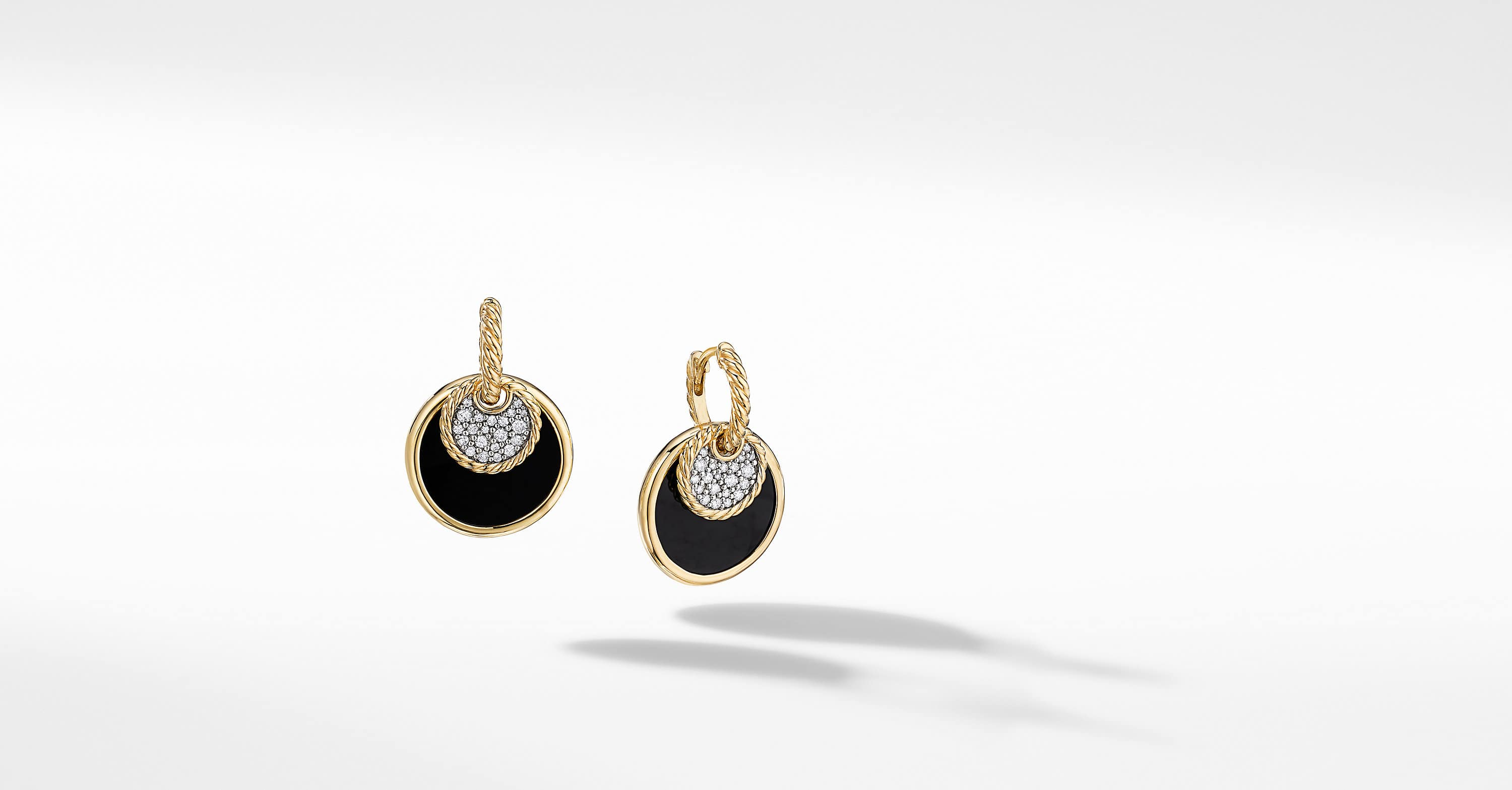 DY Elements Convertible Drop Earrings in 18K Yellow Gold with Diamonds